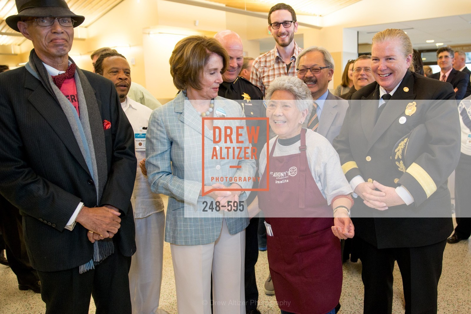 Del Seymour, Nancy Pelosi, Carmelita Lozano, Joanne Hayes-White, ST. ANTHONY'S Dining Room Ribbon Cutting Ceremony, US, October 5th, 2014,Drew Altizer, Drew Altizer Photography, full-service agency, private events, San Francisco photographer, photographer california