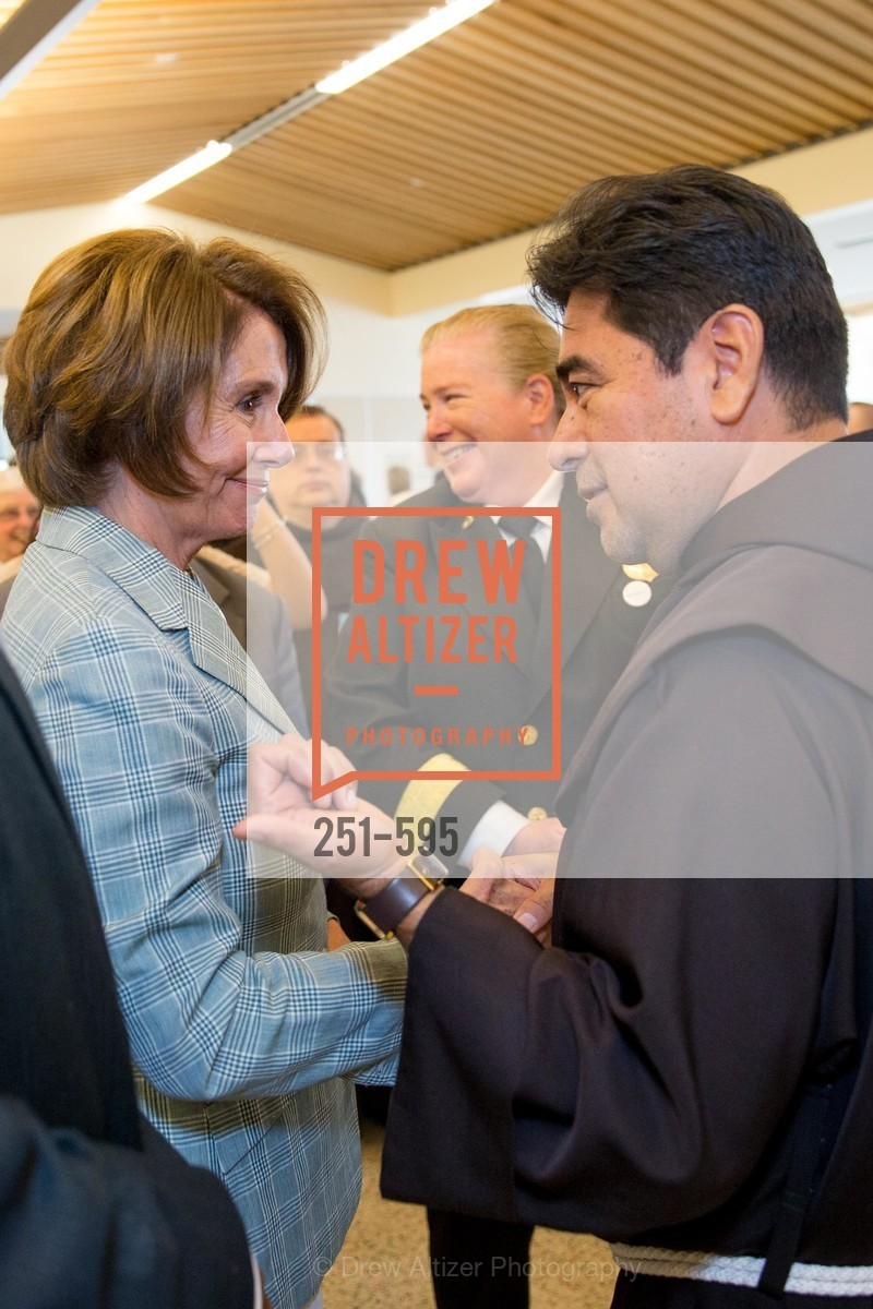 Nancy Pelosi, Father Jose Nerio, ST. ANTHONY'S Dining Room Ribbon Cutting Ceremony, US, October 5th, 2014,Drew Altizer, Drew Altizer Photography, full-service agency, private events, San Francisco photographer, photographer california