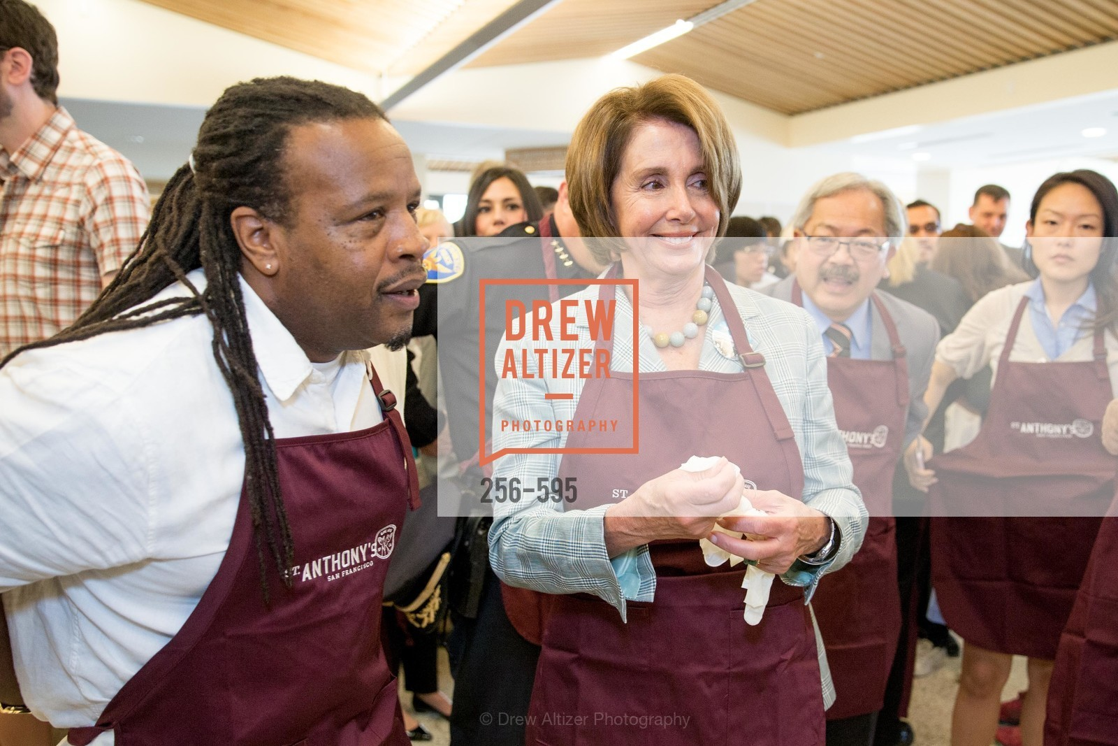 Tyrone Hopper, Nancy Pelosi, ST. ANTHONY'S Dining Room Ribbon Cutting Ceremony, US, October 5th, 2014,Drew Altizer, Drew Altizer Photography, full-service agency, private events, San Francisco photographer, photographer california