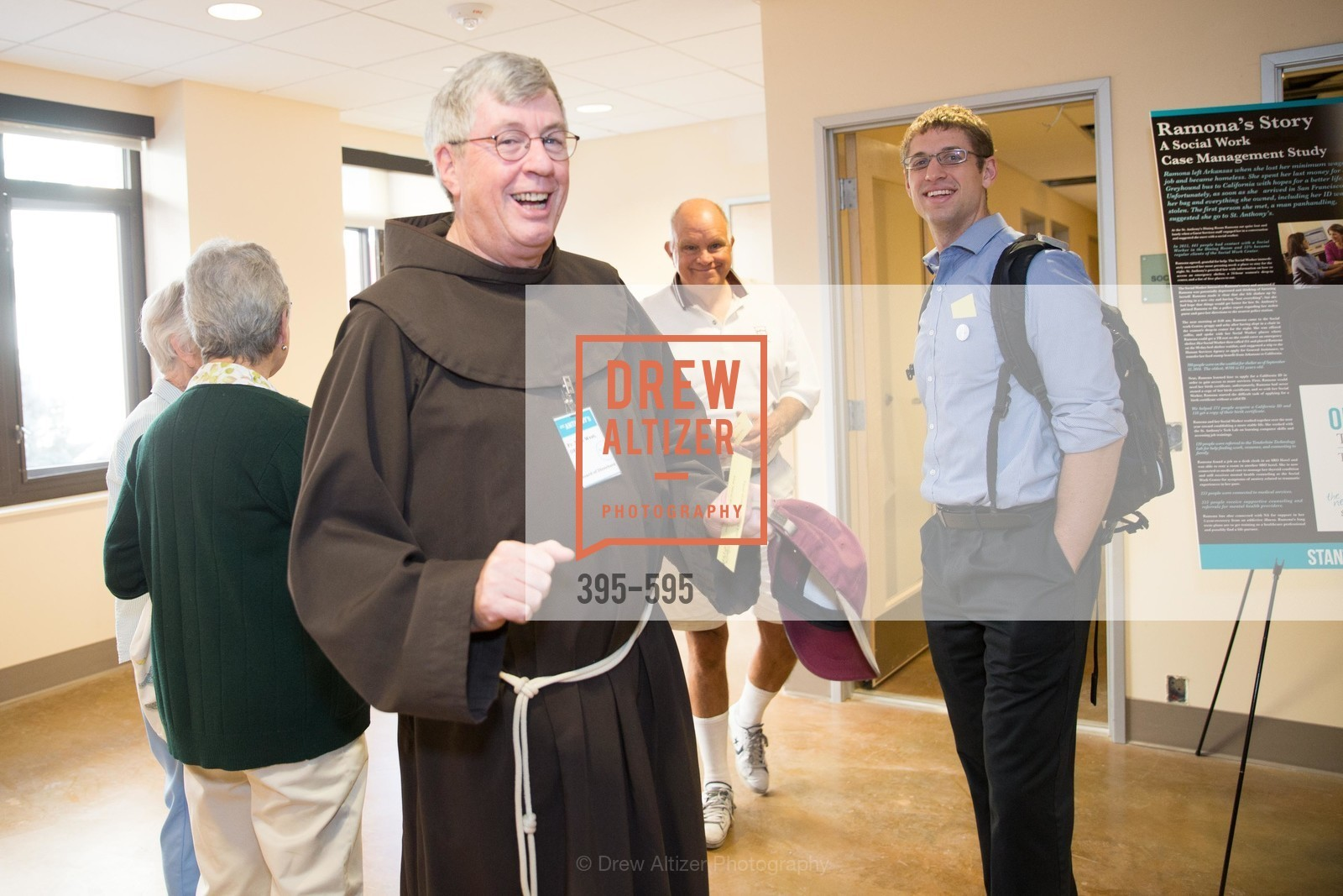 Father Tom West, ST. ANTHONY'S Dining Room Ribbon Cutting Ceremony, US, October 5th, 2014,Drew Altizer, Drew Altizer Photography, full-service agency, private events, San Francisco photographer, photographer california