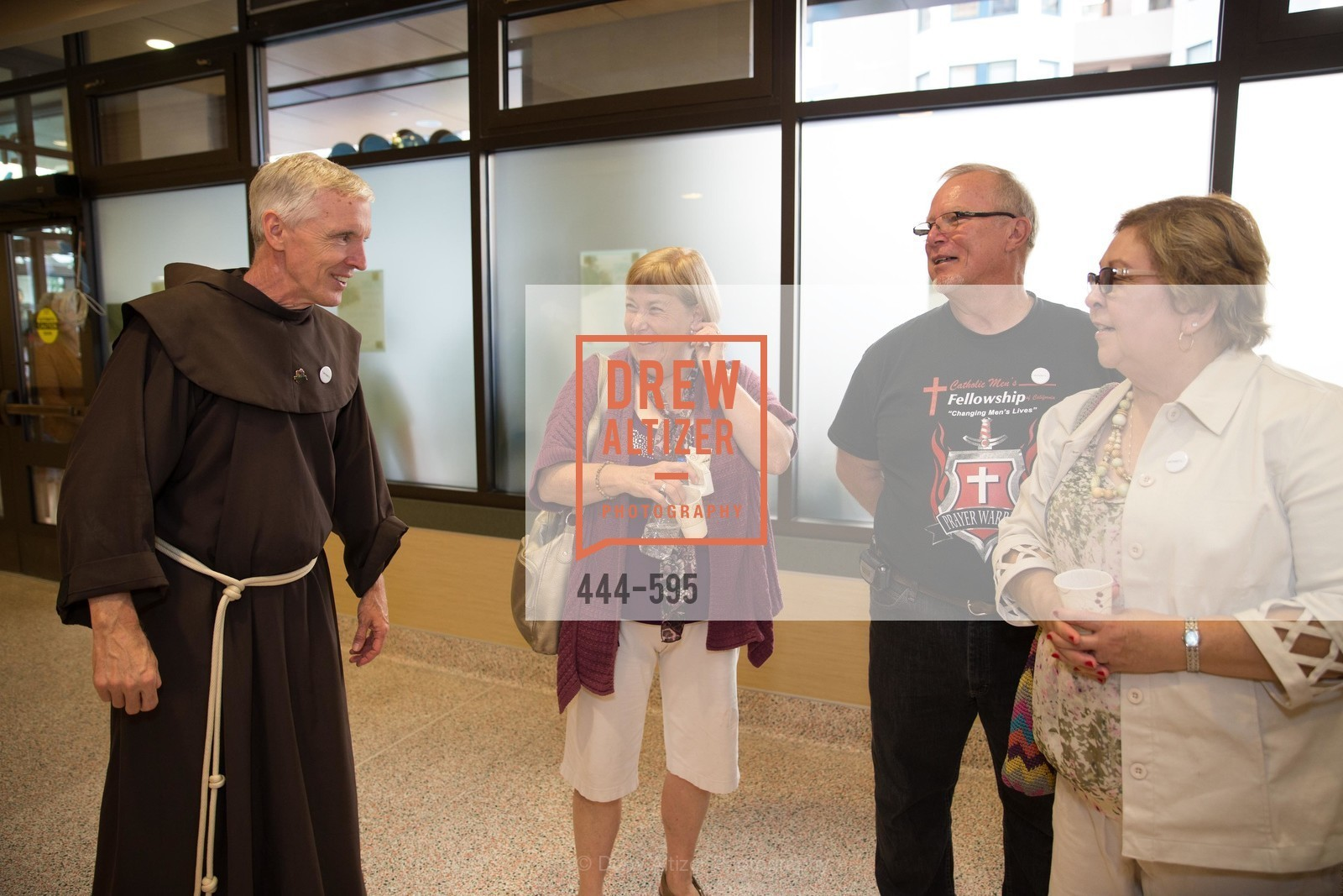 Father Dan Lackie, Gari Merchesen, Jeff Perkins, Sharon Perkins, ST. ANTHONY'S Dining Room Ribbon Cutting Ceremony, US, October 4th, 2014,Drew Altizer, Drew Altizer Photography, full-service agency, private events, San Francisco photographer, photographer california
