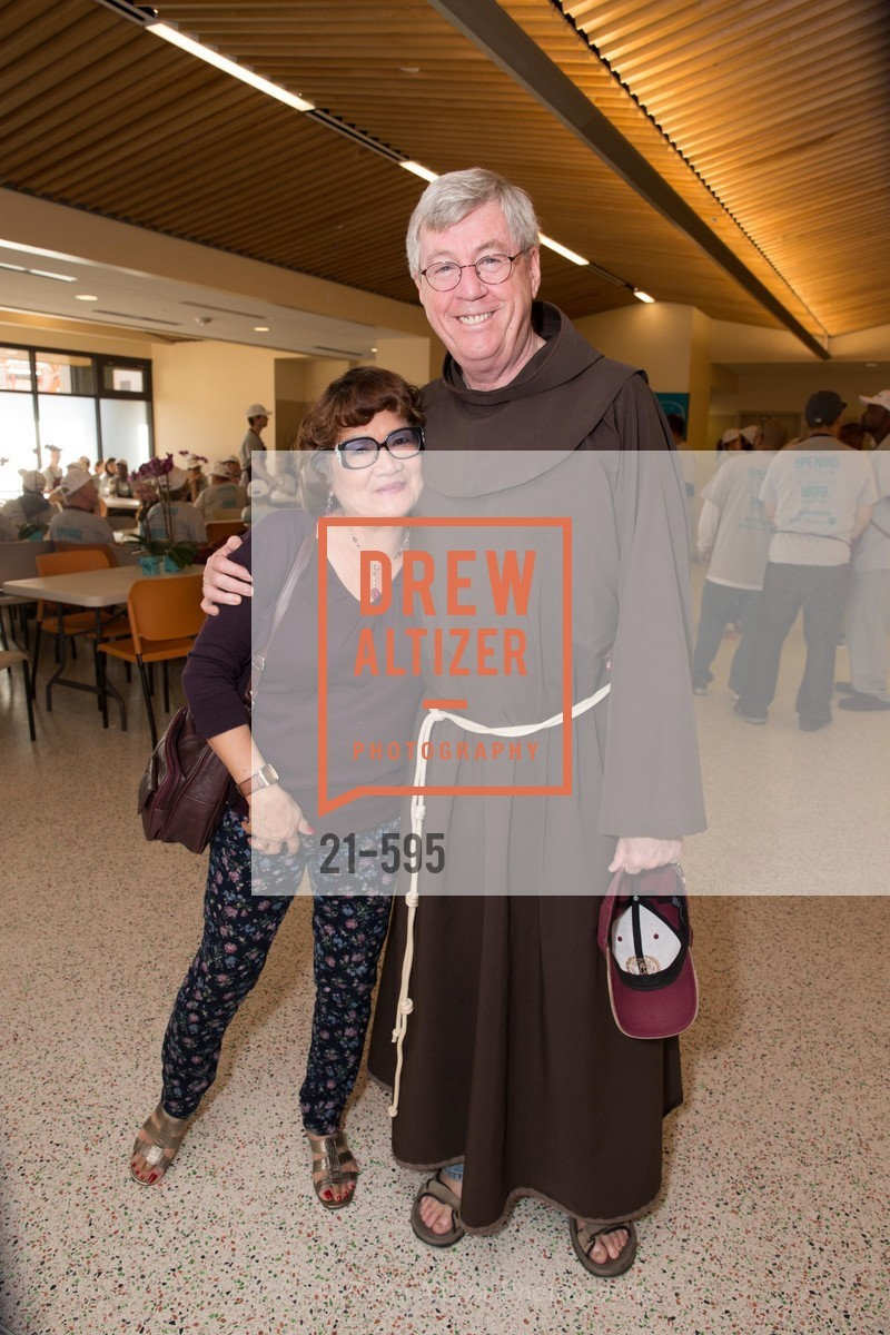 Luz Francisco, Father Tom West, ST. ANTHONY'S Dining Room Ribbon Cutting Ceremony, US, October 4th, 2014,Drew Altizer, Drew Altizer Photography, full-service agency, private events, San Francisco photographer, photographer california