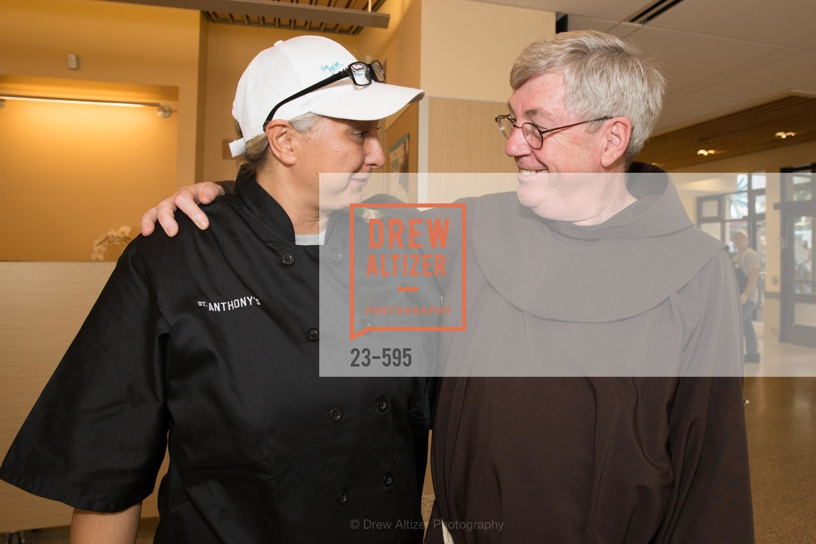 Char Marsden, Father Tom West, ST. ANTHONY'S Dining Room Ribbon Cutting Ceremony, US, October 4th, 2014,Drew Altizer, Drew Altizer Photography, full-service agency, private events, San Francisco photographer, photographer california