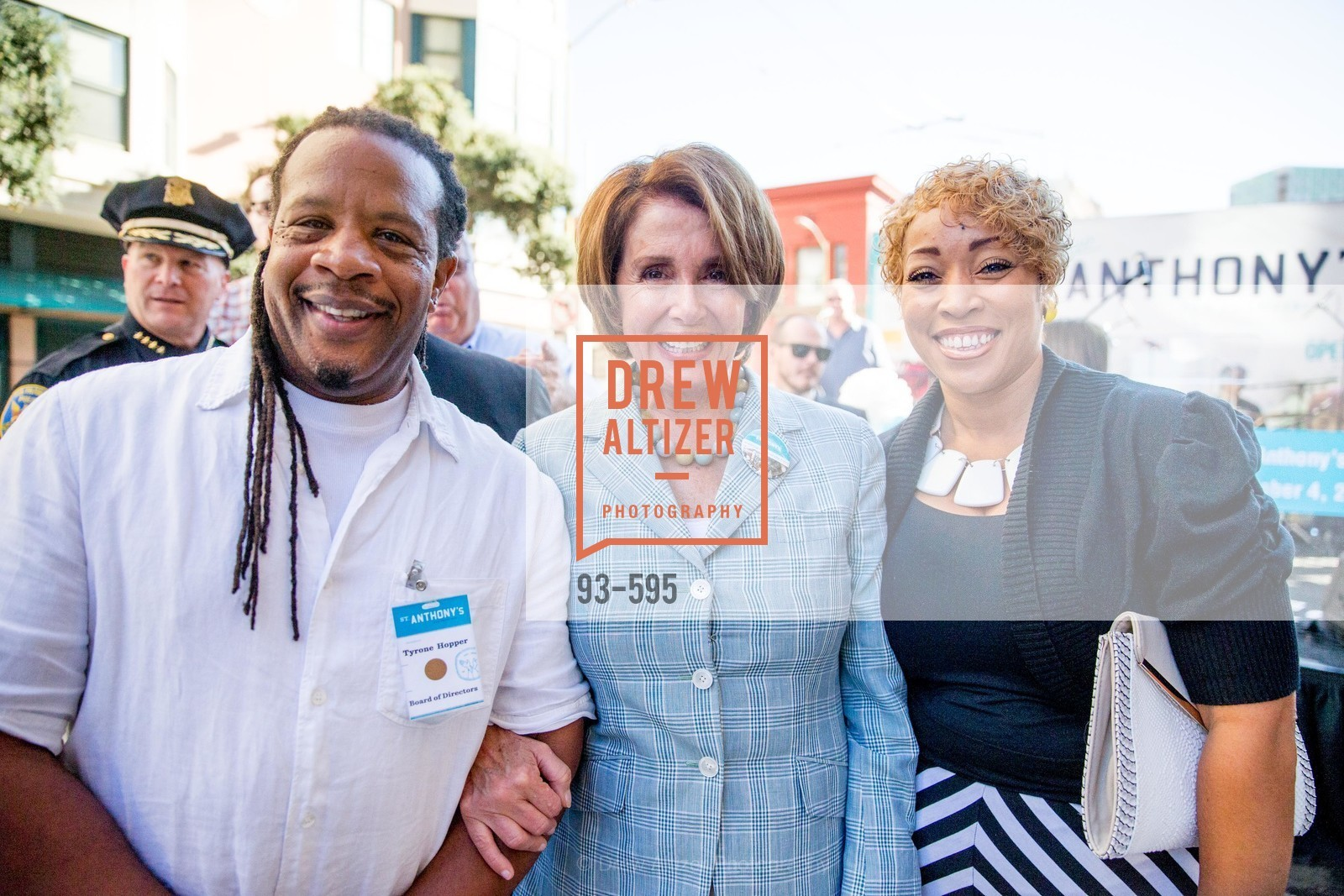 Tyrone Hopper, The Honorable Nancy Pelosi, Karen Hopper, ST. ANTHONY'S Dining Room Ribbon Cutting Ceremony, US, October 4th, 2014,Drew Altizer, Drew Altizer Photography, full-service agency, private events, San Francisco photographer, photographer california