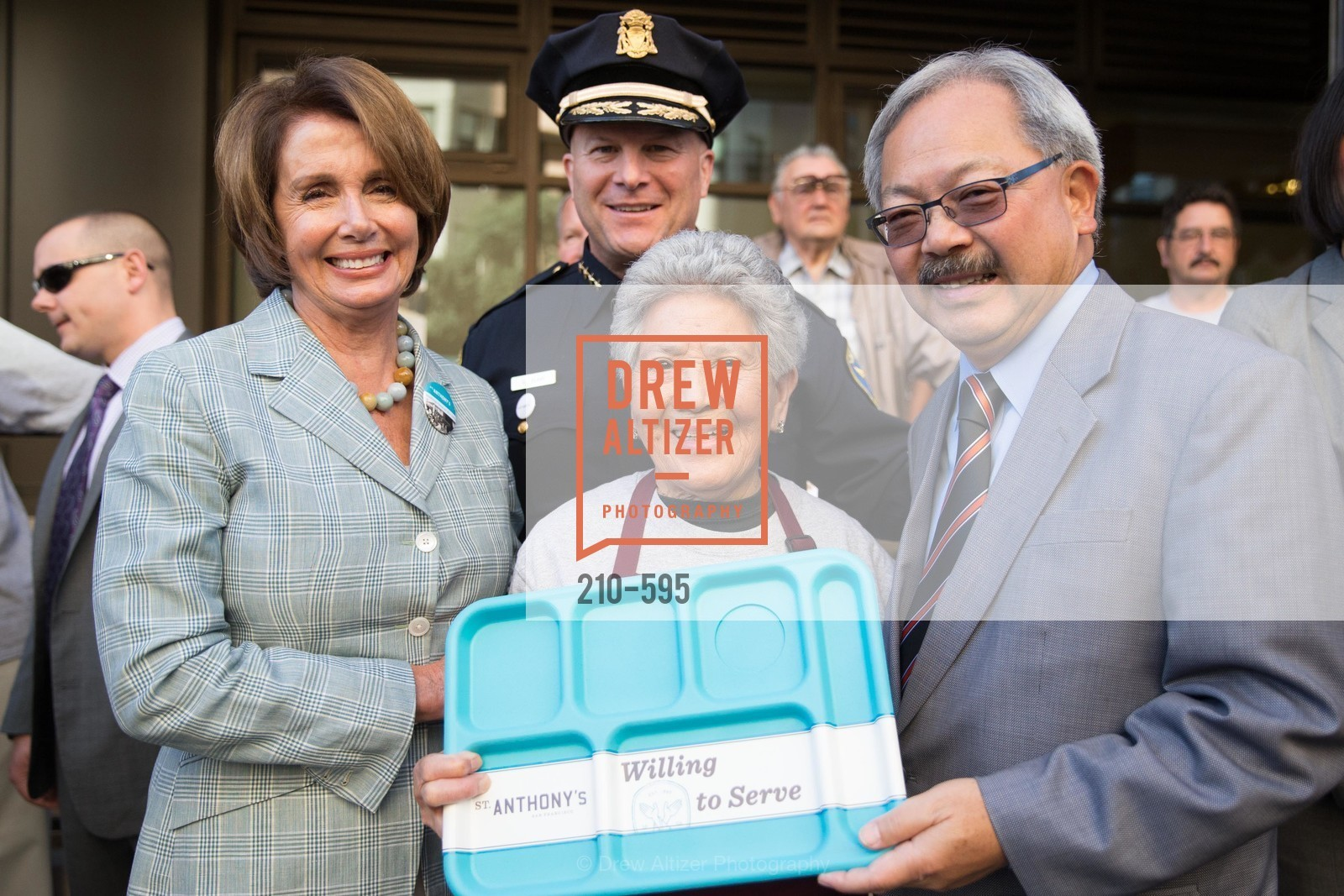 The Honorable Nancy Pelosi, Greg Suhr, Carmelita Lozano, Mayor Ed Lee, ST. ANTHONY'S Dining Room Ribbon Cutting Ceremony, US, October 4th, 2014,Drew Altizer, Drew Altizer Photography, full-service agency, private events, San Francisco photographer, photographer california