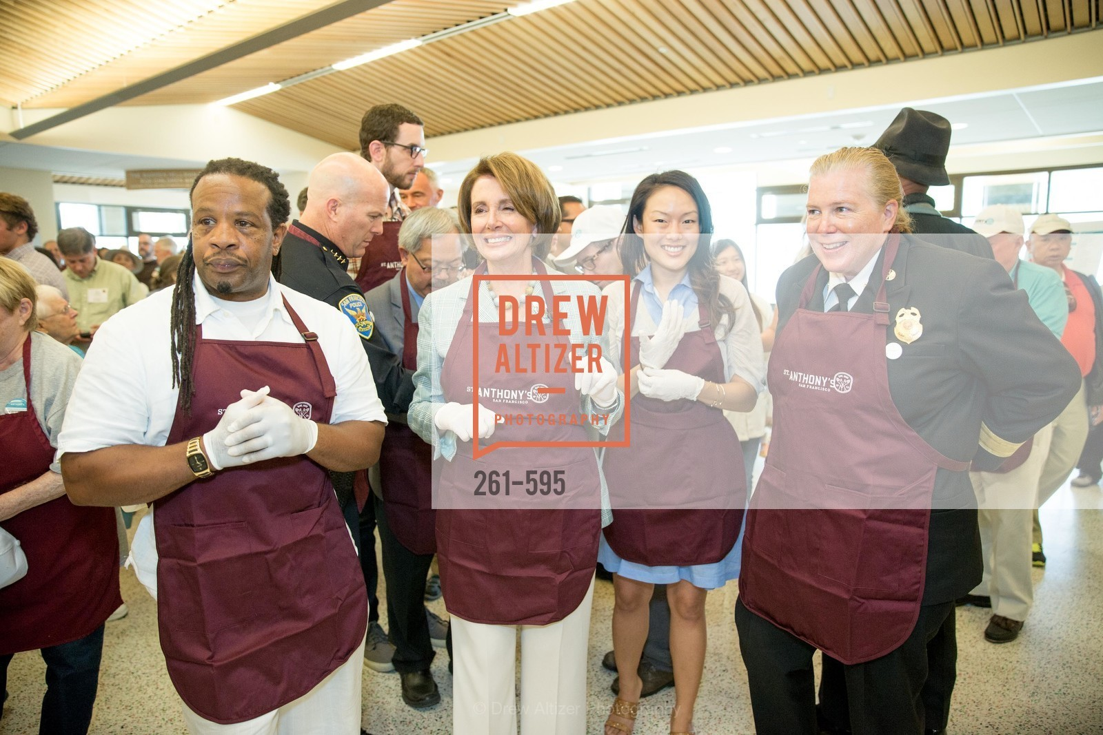Tyrone Hopper, The Honorable Nancy Pelosi, Jane Kim, Joanne Hayes-White, ST. ANTHONY'S Dining Room Ribbon Cutting Ceremony, US, October 4th, 2014,Drew Altizer, Drew Altizer Photography, full-service agency, private events, San Francisco photographer, photographer california
