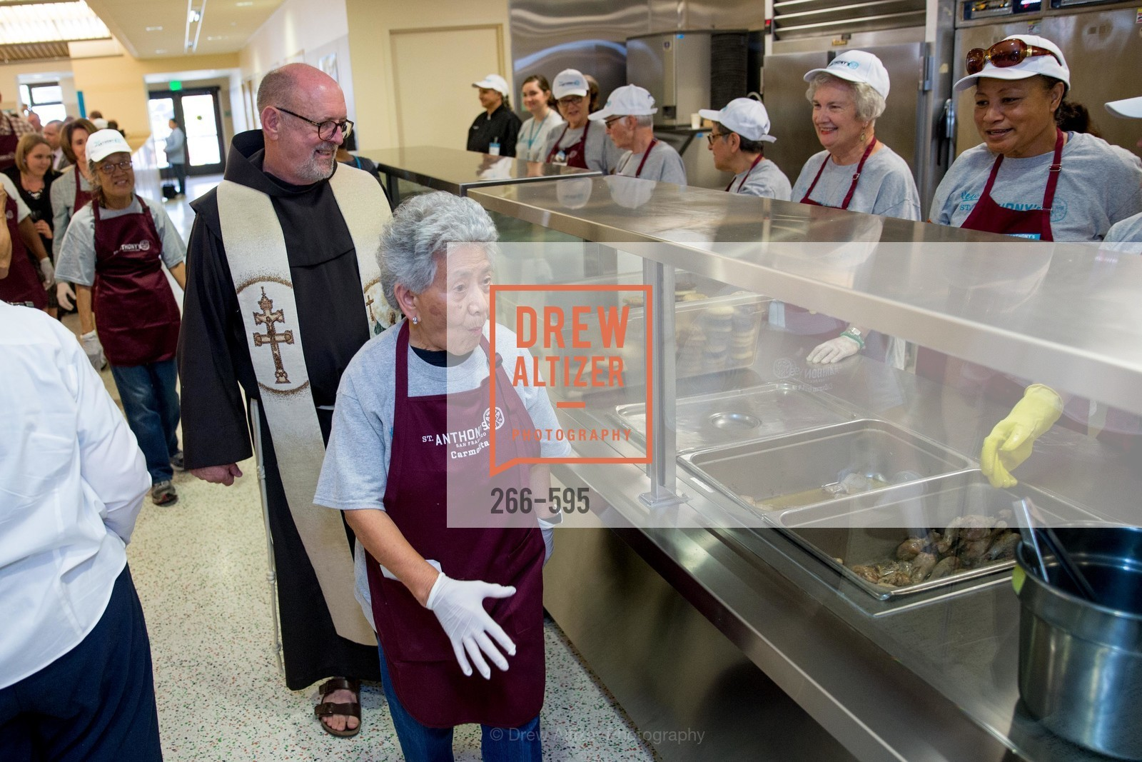Father John Hardin, Carmelita Lozano, ST. ANTHONY'S Dining Room Ribbon Cutting Ceremony, US, October 4th, 2014,Drew Altizer, Drew Altizer Photography, full-service agency, private events, San Francisco photographer, photographer california
