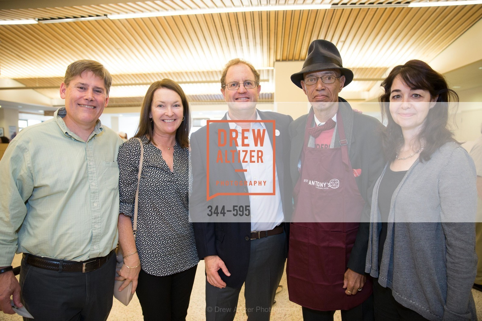 Kent Iglehart, Anne Parish, Michael Parish, Del Seymour, Adrienne Iglehart, ST. ANTHONY'S Dining Room Ribbon Cutting Ceremony, US, October 4th, 2014,Drew Altizer, Drew Altizer Photography, full-service agency, private events, San Francisco photographer, photographer california