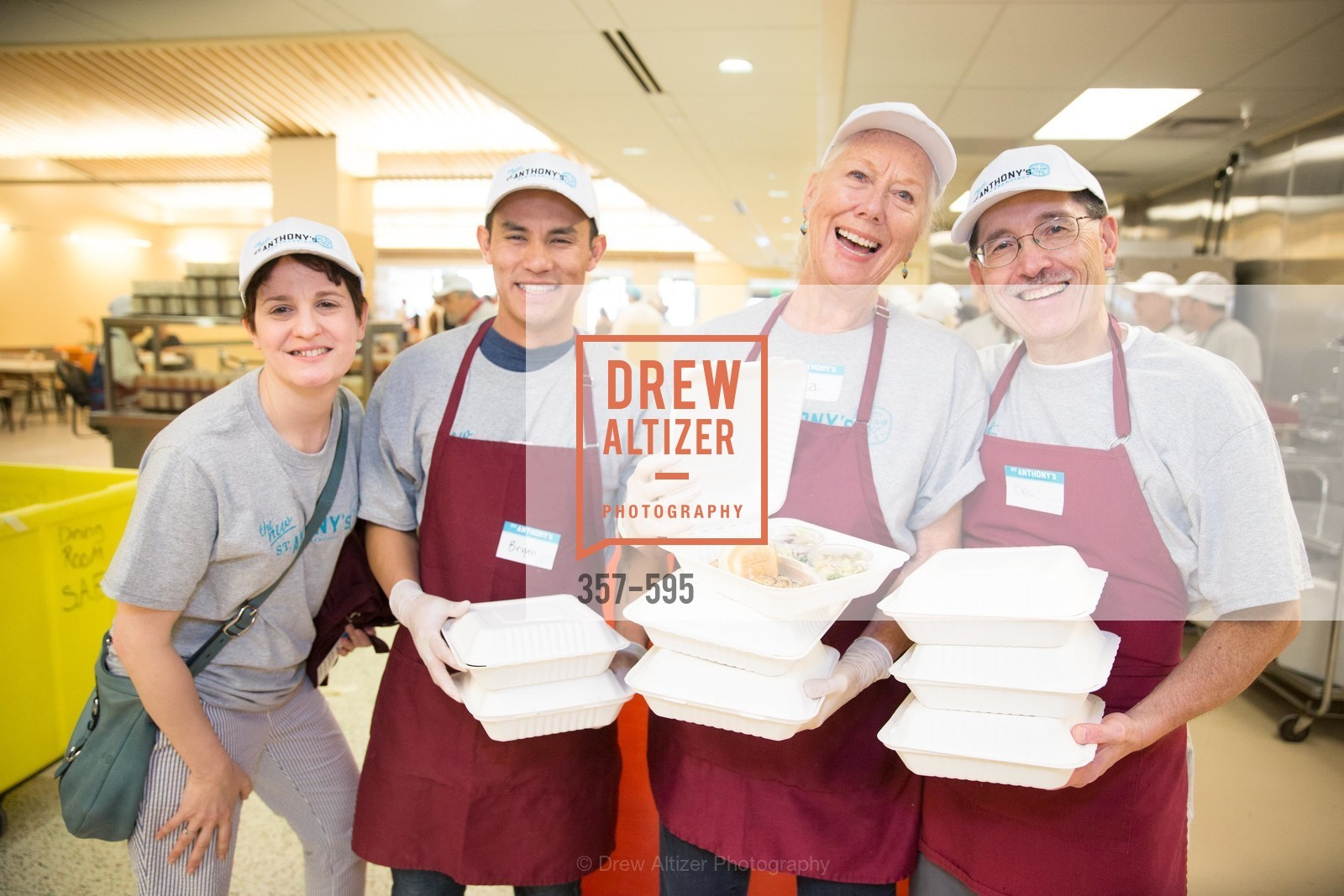 Colleen Rivecca, Bryan, Katherine, Drew, ST. ANTHONY'S Dining Room Ribbon Cutting Ceremony, US, October 4th, 2014,Drew Altizer, Drew Altizer Photography, full-service agency, private events, San Francisco photographer, photographer california