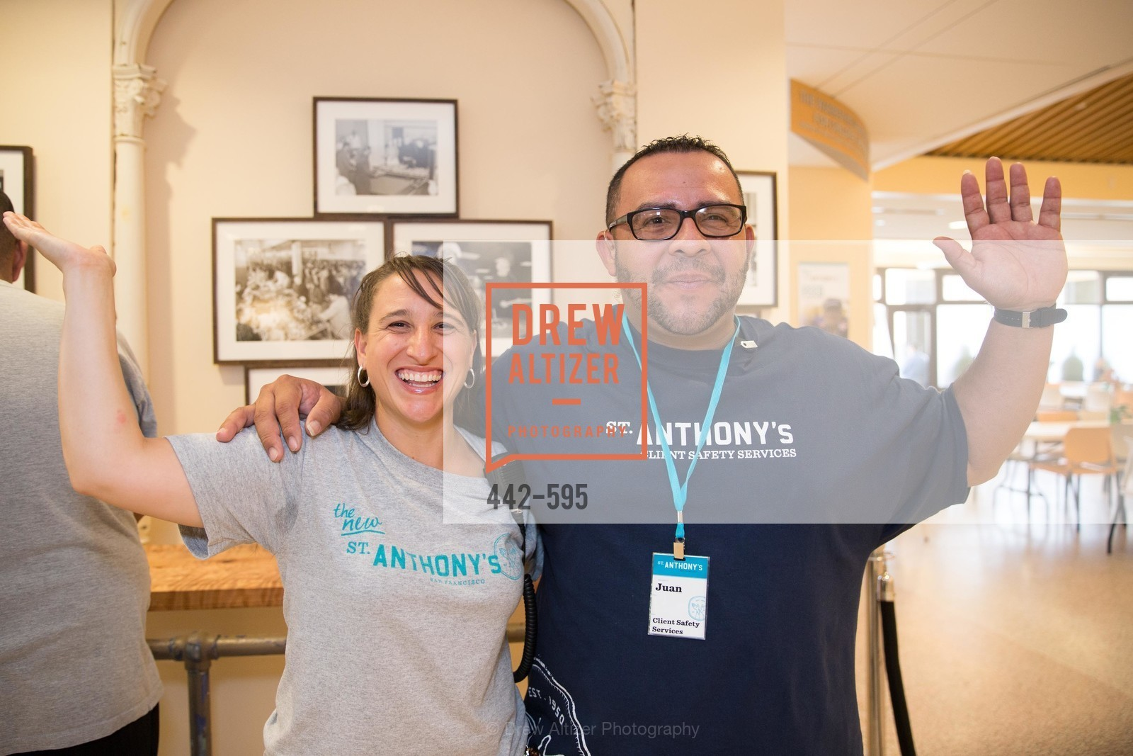 Angelina Cahalan, Juan Romero, ST. ANTHONY'S Dining Room Ribbon Cutting Ceremony, US, October 5th, 2014,Drew Altizer, Drew Altizer Photography, full-service agency, private events, San Francisco photographer, photographer california