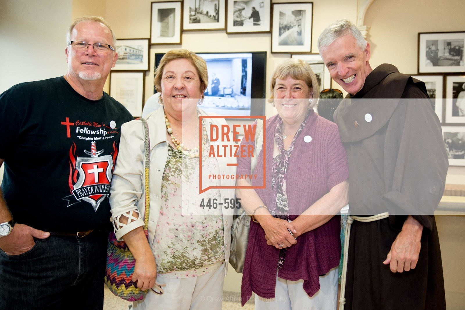 Jeff Perkins, Sharon Perkins, Gari Merchesen, Father Dan Lackie, ST. ANTHONY'S Dining Room Ribbon Cutting Ceremony, US, October 4th, 2014,Drew Altizer, Drew Altizer Photography, full-service agency, private events, San Francisco photographer, photographer california