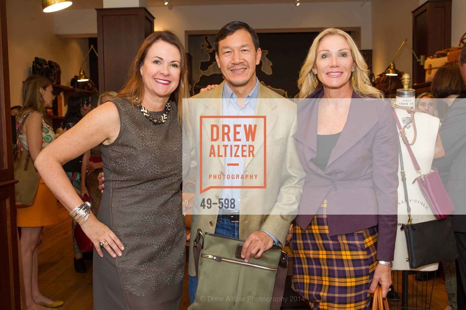 Tanya Peterson, Tim Wu, Rosemary Baker, GHURKA FALL FASHION Press Preview Honoring the ZOO BOARD, US, October 8th, 2014,Drew Altizer, Drew Altizer Photography, full-service agency, private events, San Francisco photographer, photographer california