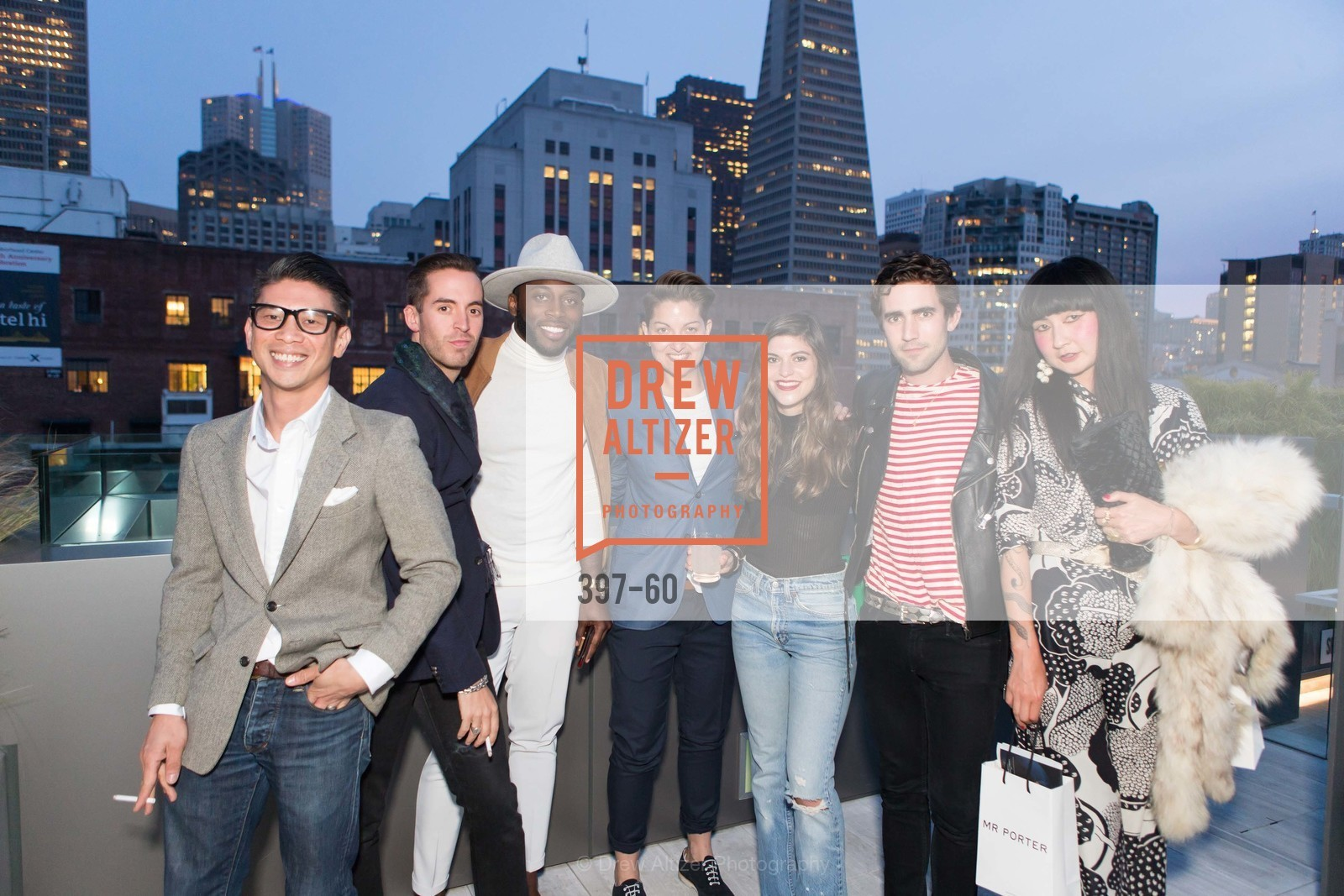 Fidel Lirio, Steven Candelino, Phillip Holmes, Tulio Leyva, Liz Sharnet, Wyatt Huff, Ringka, MR PORTER Celebrate The San Francisco Issue of The Journal, The Battery Rooftop - The Battery SF, April 23rd, 2015,Drew Altizer, Drew Altizer Photography, full-service agency, private events, San Francisco photographer, photographer california