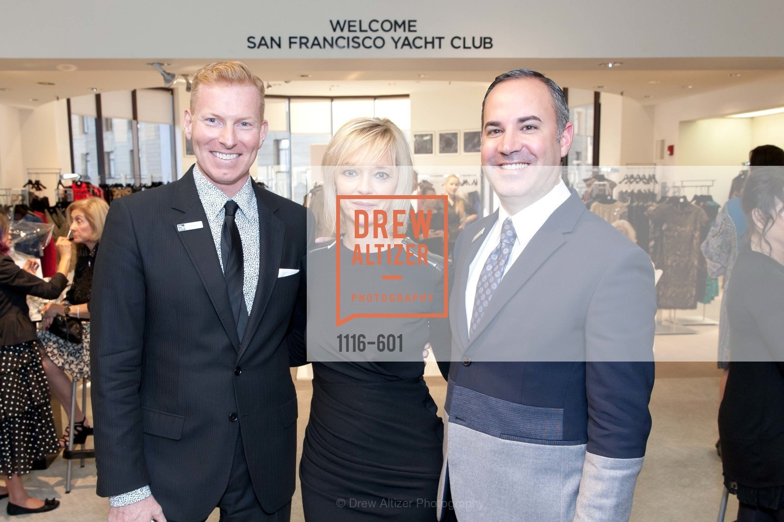 Randy Moore, Avril Graham, Robert Arnold-Kraft, SAKS FIFTH AVENUE and HARPER'S BAZAAR Host the San Francisco Yacht Club, US, October 9th, 2014,Drew Altizer, Drew Altizer Photography, full-service agency, private events, San Francisco photographer, photographer california