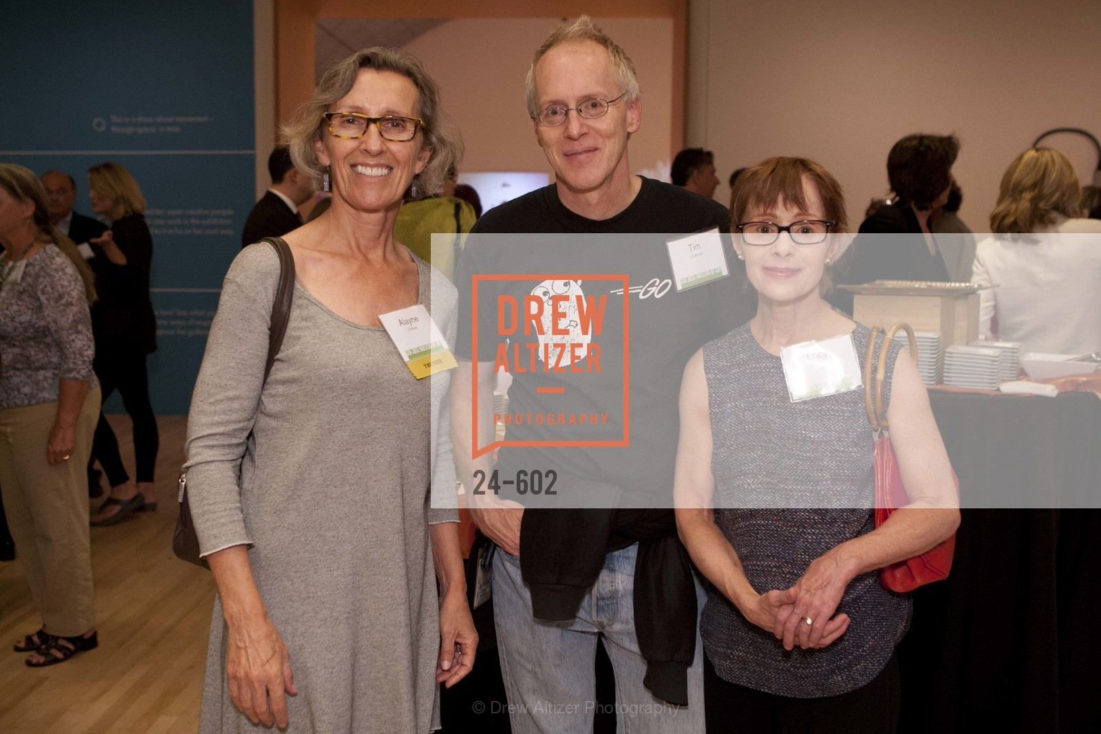 Alayne Yellum, Tim Lindholm, Lucy Gaylord, SAN JOSE MUSEUM OF ART Fall Reception Opening, US, October 9th, 2014
