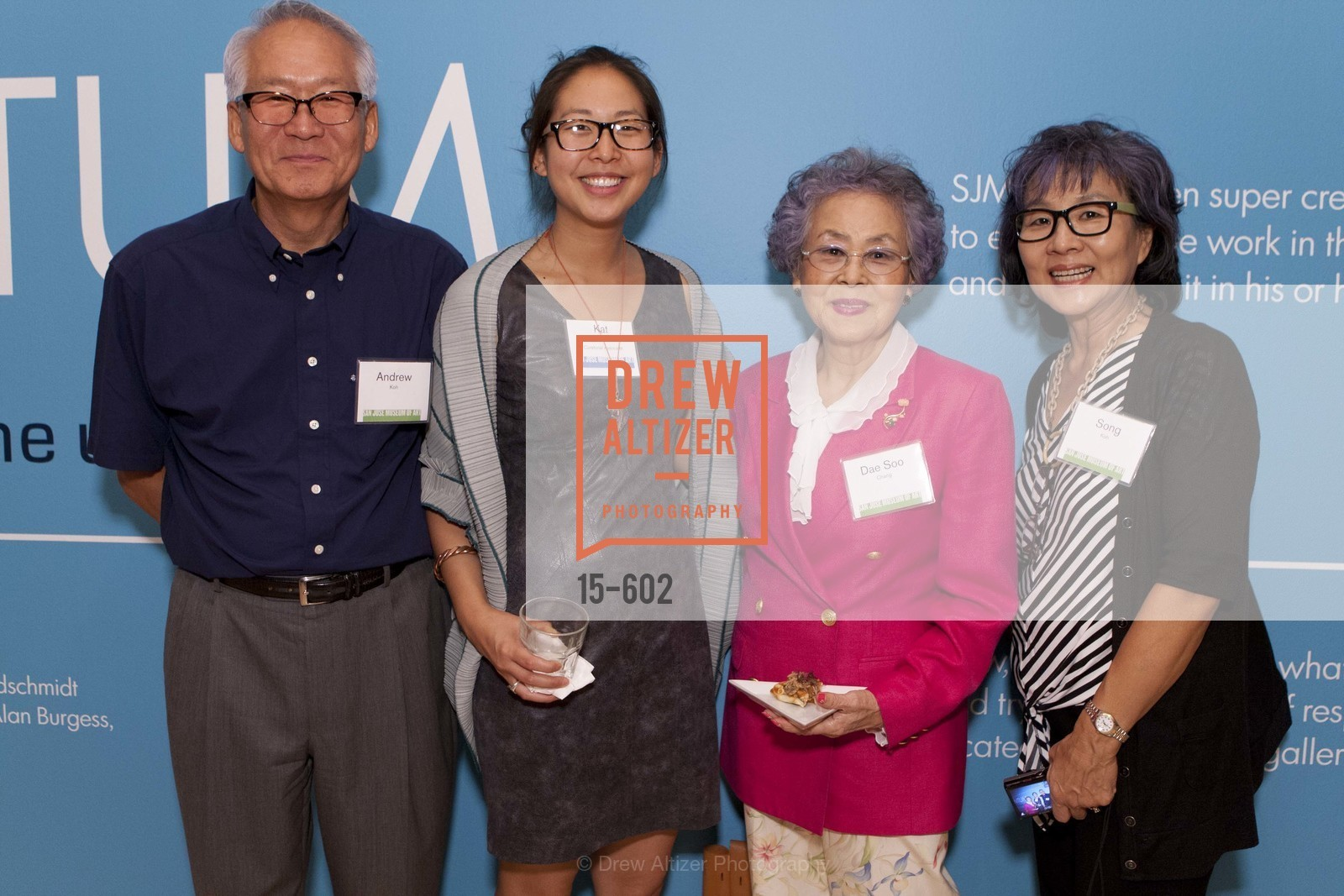 Andrew Koh, Kat Koh, Dae Soo Chang, Song Koh, SAN JOSE MUSEUM OF ART Fall Reception Opening, US, October 9th, 2014,Drew Altizer, Drew Altizer Photography, full-service agency, private events, San Francisco photographer, photographer california