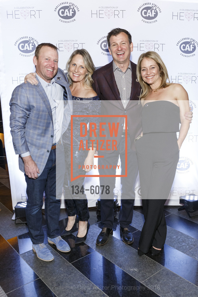 Michael Hughes, Julie Hughes, Luke Boland, Nancy Boland, Challenged Athletes Foundation Inaugural Celebration of Heart Benefit 2018, SFMOMA. 151 Third Street, February 27th, 2018