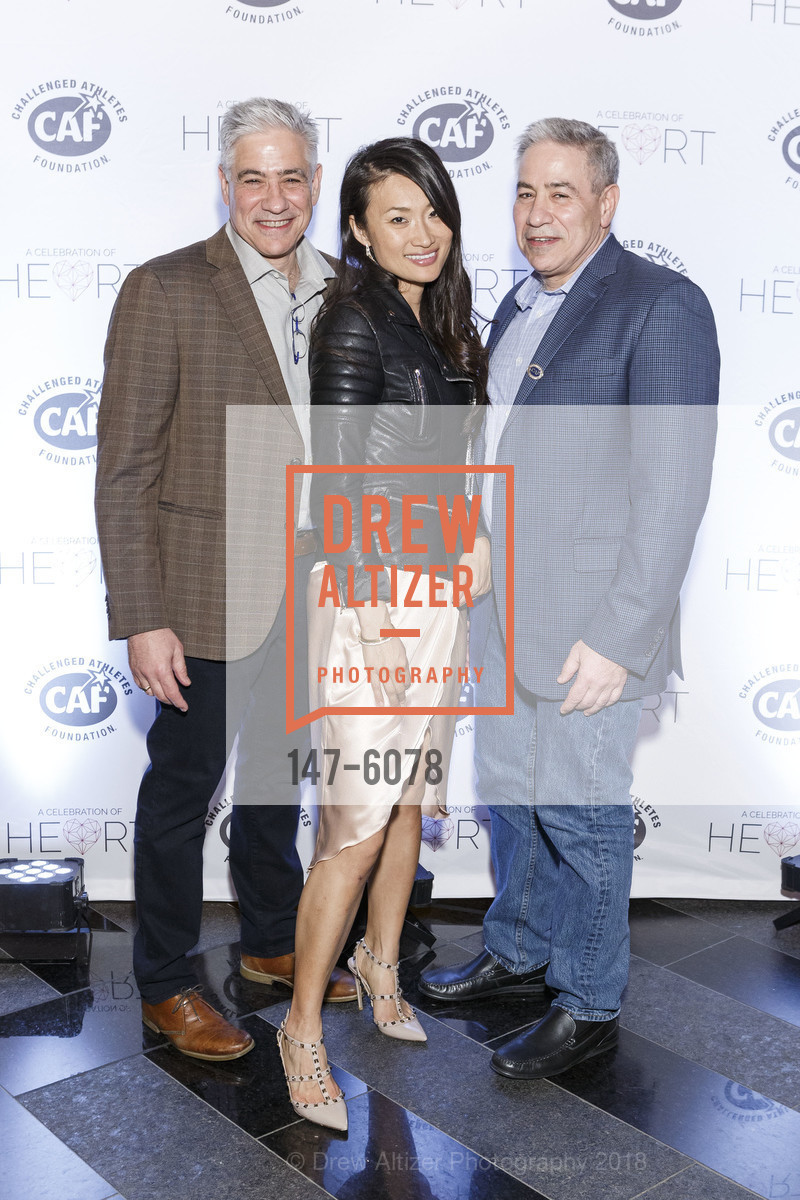 Bob Spinner, Sora Chung, Rich Spinner, Challenged Athletes Foundation Inaugural Celebration of Heart Benefit 2018, SFMOMA. 151 Third Street, February 27th, 2018