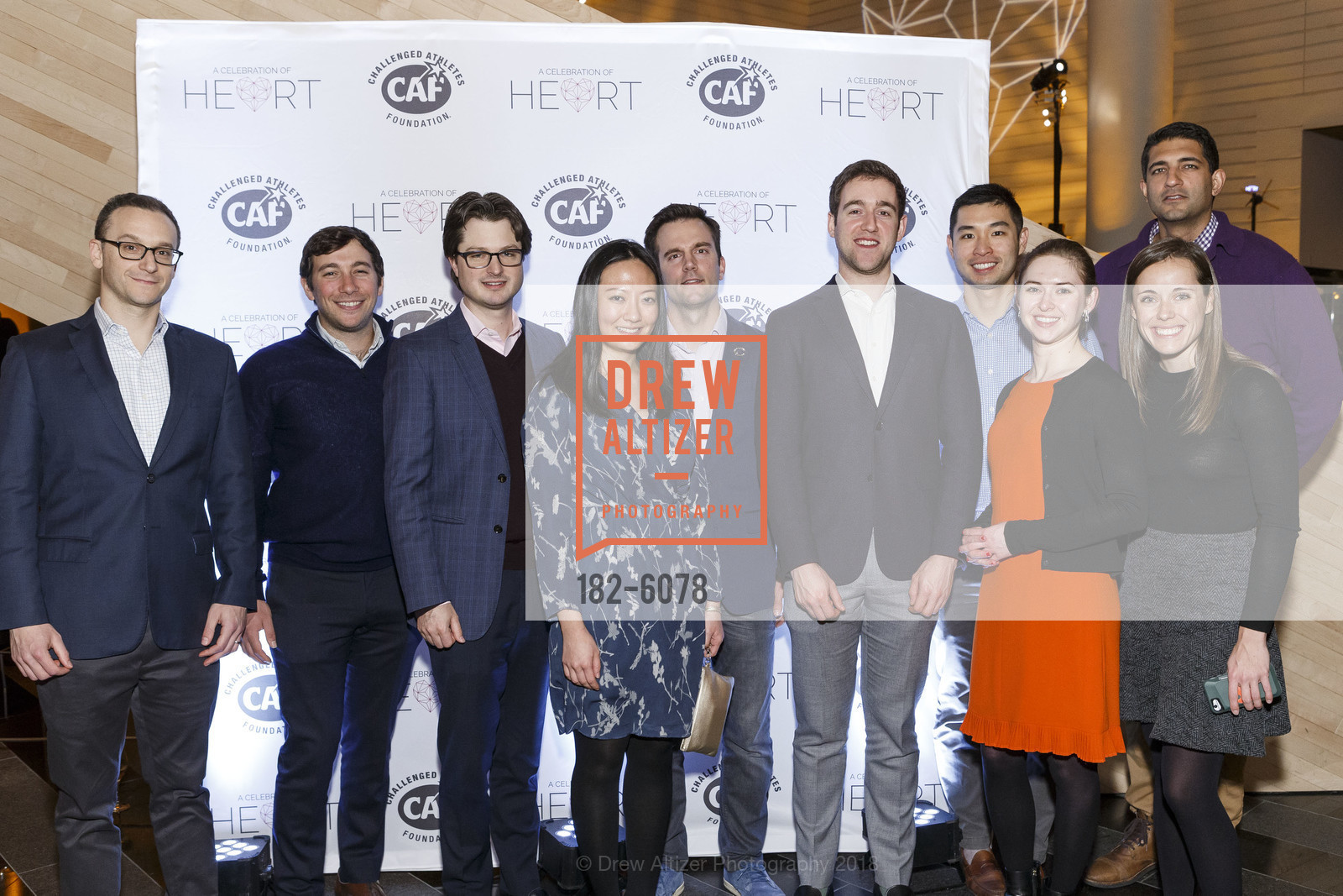 Josh Peck, Sammy Brown, Sharon Gee, Michael Naruda, Arthur Romeo, Jesse, Oliver Peck, Sandra Rutova, Jenny Walsh, Kunal Gulati, Challenged Athletes Foundation Inaugural Celebration of Heart Benefit 2018, SFMOMA. 151 Third Street, February 27th, 2018