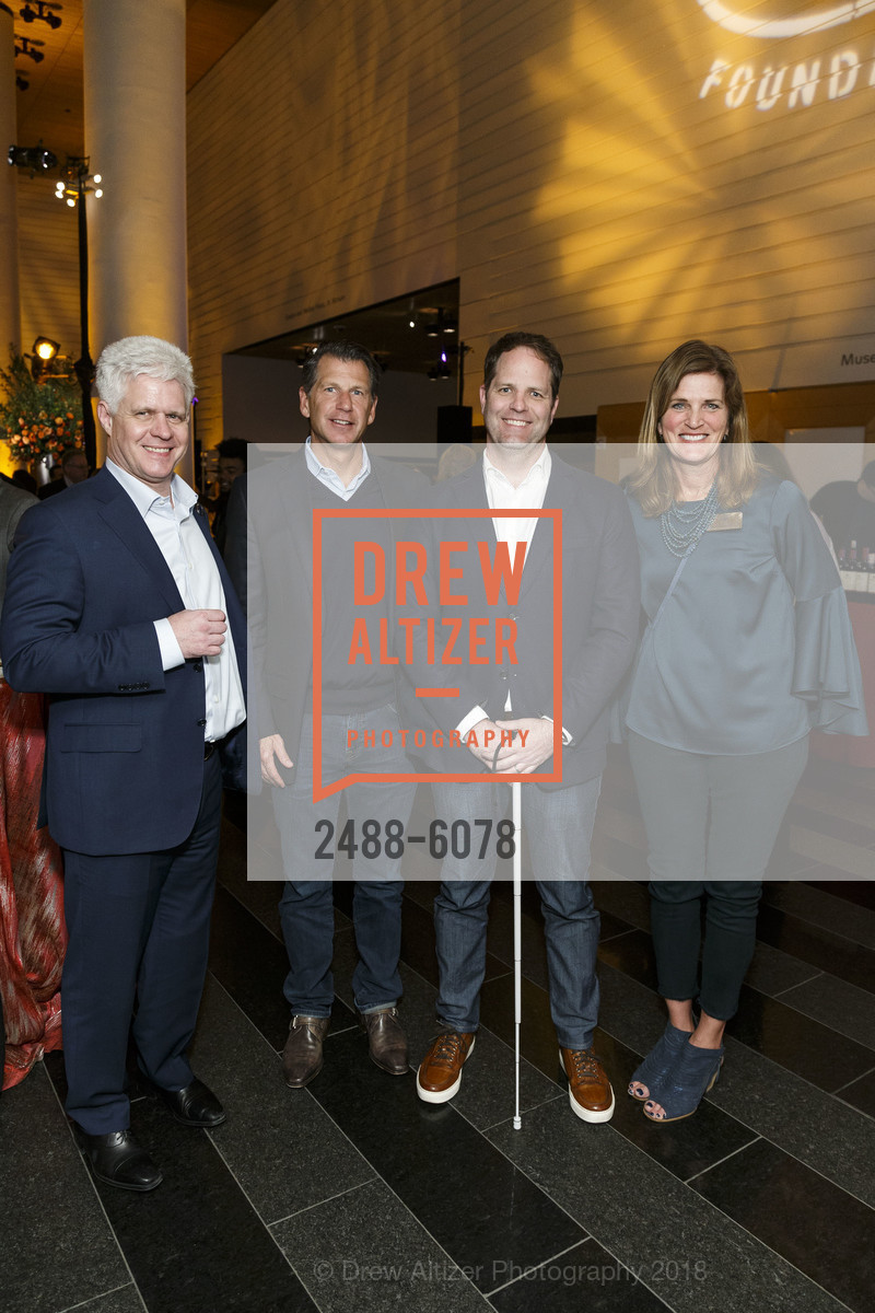 John Walsh, Chad Jerdee, Colin Johnson, Nancy Reynolds, Challenged Athletes Foundation Inaugural Celebration of Heart Benefit 2018, SFMOMA. 151 Third Street, February 27th, 2018