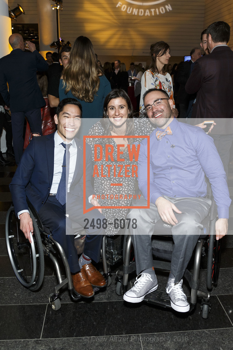 Steven Toyoji, Jenna McCrory, Rob Balucas, Challenged Athletes Foundation Inaugural Celebration of Heart Benefit 2018, SFMOMA. 151 Third Street, February 27th, 2018