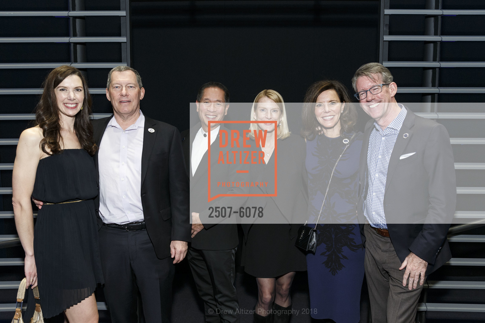 Patricia Bromley, Mark Bregman, Rob Theis, Lynda Moyer, Heidi Bretz, David Moore, Challenged Athletes Foundation Inaugural Celebration of Heart Benefit 2018, SFMOMA. 151 Third Street, February 27th, 2018