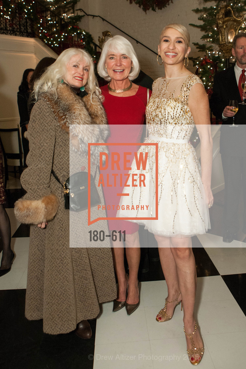 Andi Valo Espina, Kelli Burrill, Navid Armstrong, San Francisco Ballet Auxiliary's Gala Launch party hosted by La Perla., VILLA TAVERA. 27 HOTALING PLACE, December 1st, 2015,Drew Altizer, Drew Altizer Photography, full-service agency, private events, San Francisco photographer, photographer california