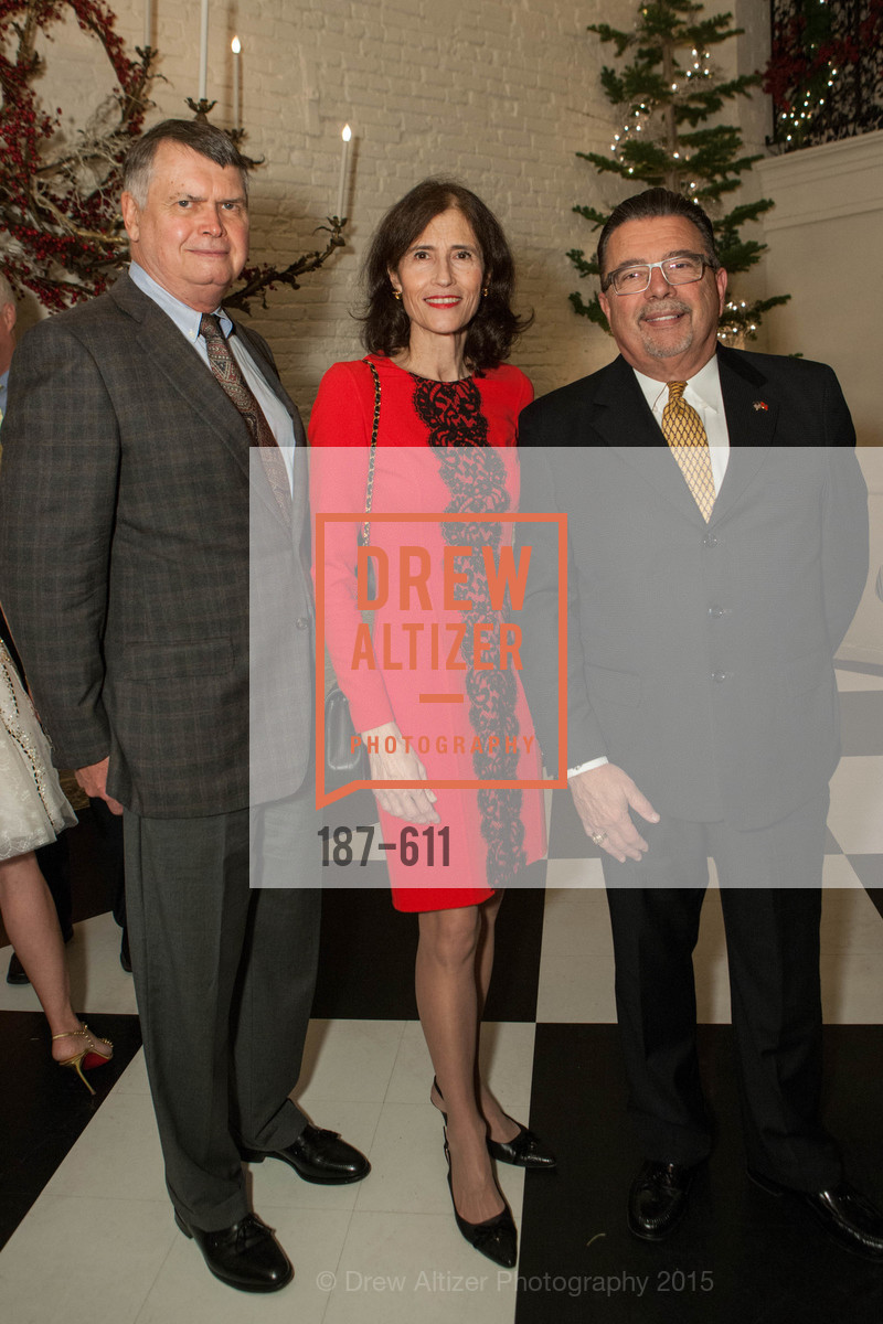 Kent Brooks, Rada Brooks, Frank Espina, San Francisco Ballet Auxiliary's Gala Launch party hosted by La Perla., VILLA TAVERA. 27 HOTALING PLACE, December 1st, 2015,Drew Altizer, Drew Altizer Photography, full-service agency, private events, San Francisco photographer, photographer california