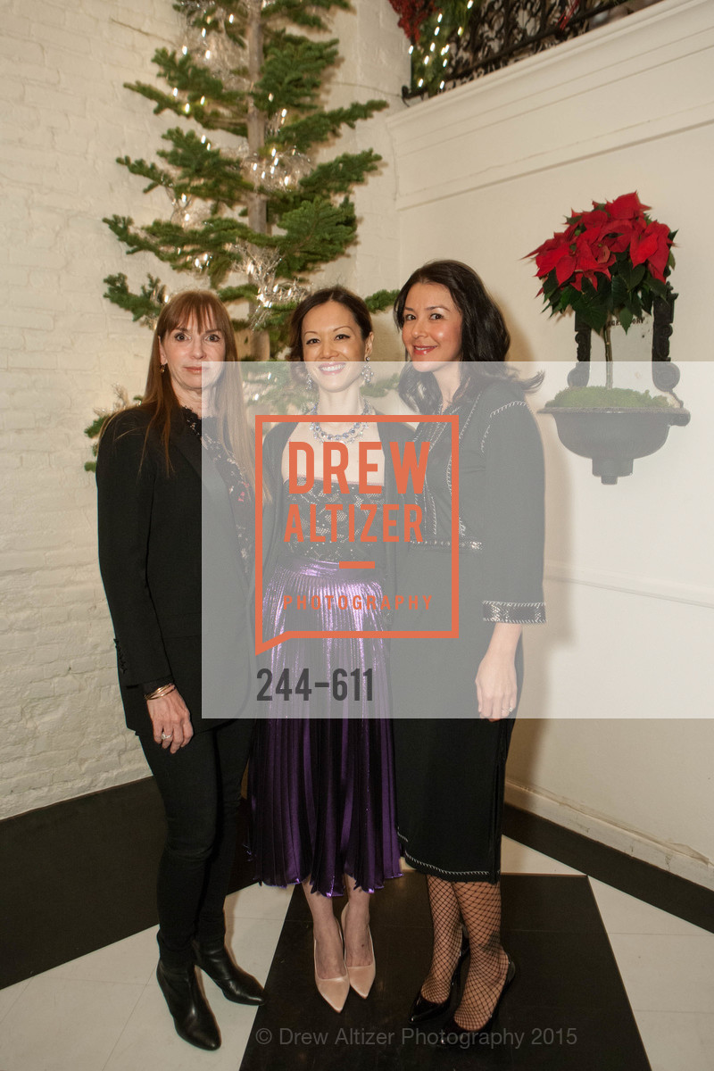 Jeannette Saal, Stephanie Vo, Phoebe Mireles, San Francisco Ballet Auxiliary's Gala Launch party hosted by La Perla., VILLA TAVERA. 27 HOTALING PLACE, December 1st, 2015,Drew Altizer, Drew Altizer Photography, full-service agency, private events, San Francisco photographer, photographer california