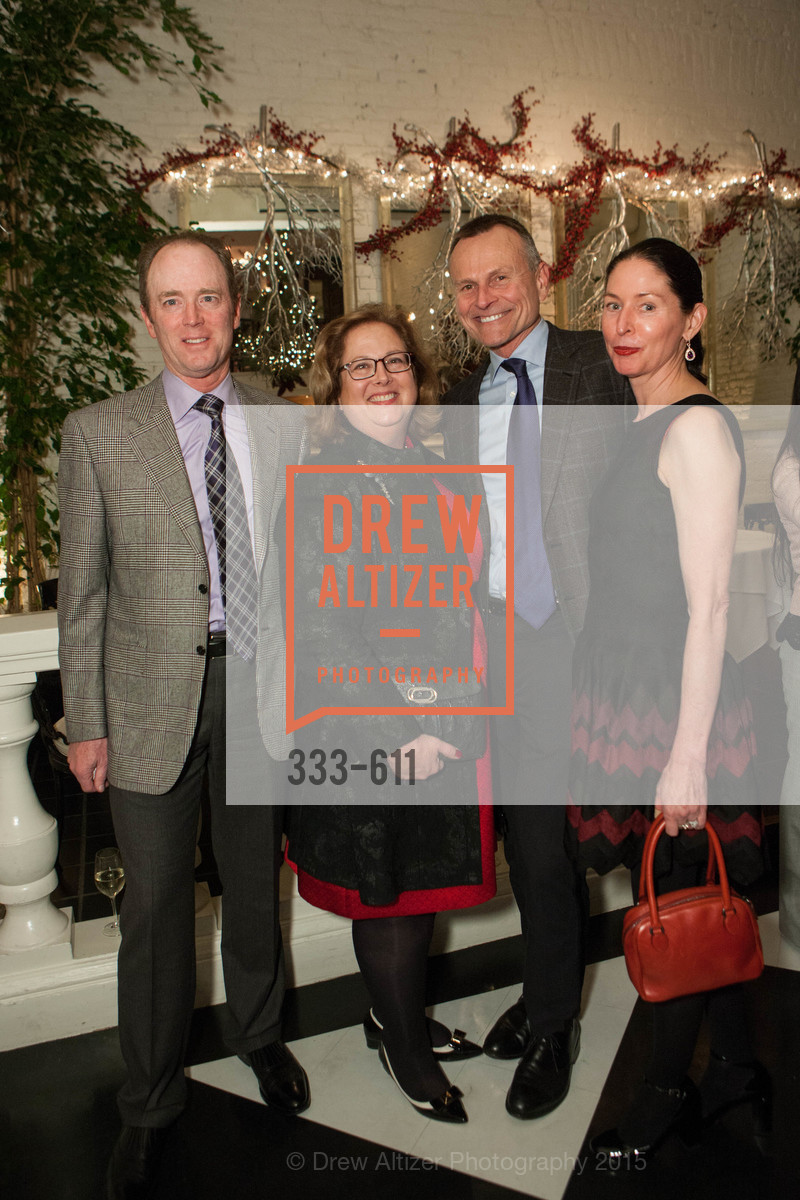 Terry Hazlewood, Lisa Stern-Hazlewood, Ron Heckmann, Valerie Heckmann, San Francisco Ballet Auxiliary's Gala Launch party hosted by La Perla., VILLA TAVERA. 27 HOTALING PLACE, December 1st, 2015,Drew Altizer, Drew Altizer Photography, full-service agency, private events, San Francisco photographer, photographer california