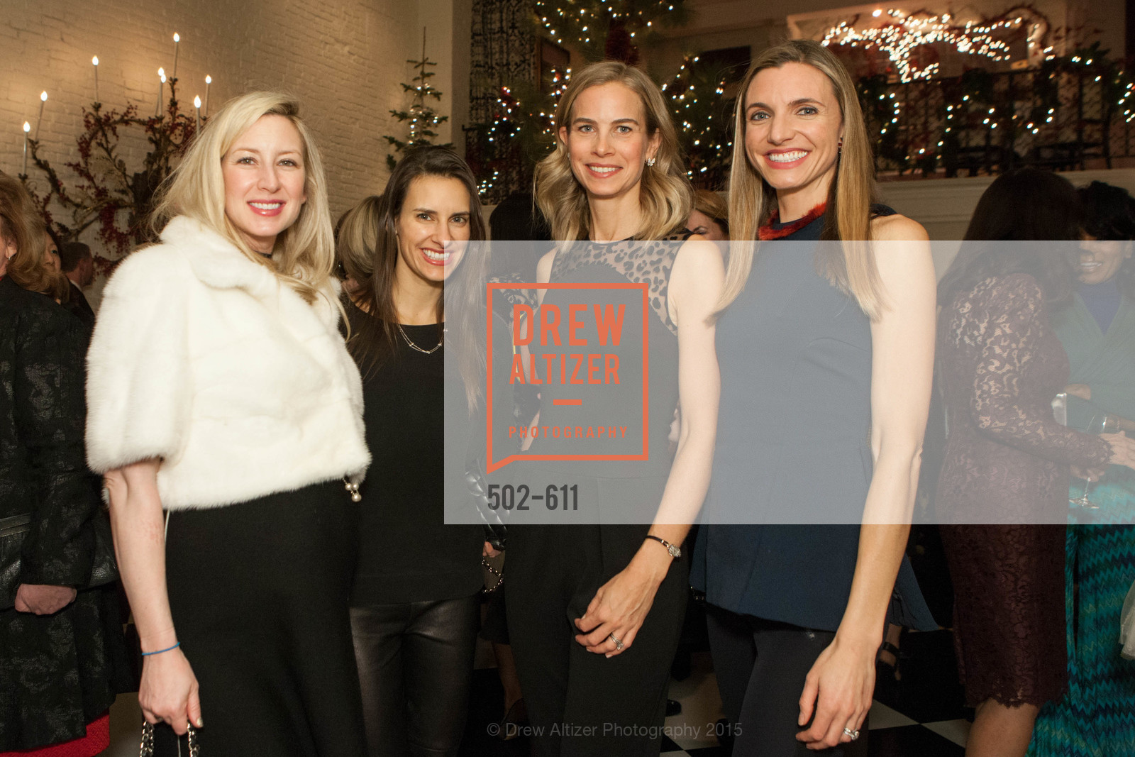 Lydia Bergman, Patricia Dassios, Hannah Komolli, Marisa Avansino, San Francisco Ballet Auxiliary's Gala Launch party hosted by La Perla., VILLA TAVERA. 27 HOTALING PLACE, December 1st, 2015,Drew Altizer, Drew Altizer Photography, full-service agency, private events, San Francisco photographer, photographer california