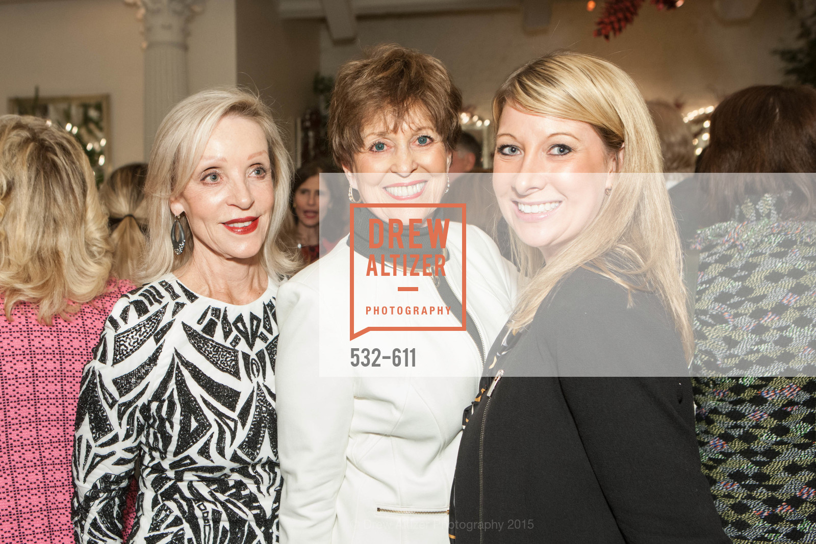 Barbara Brown, Suzanne Thornton, Jennifer Mancuso, San Francisco Ballet Auxiliary's Gala Launch party hosted by La Perla., VILLA TAVERA. 27 HOTALING PLACE, December 1st, 2015,Drew Altizer, Drew Altizer Photography, full-service event agency, private events, San Francisco photographer, photographer California