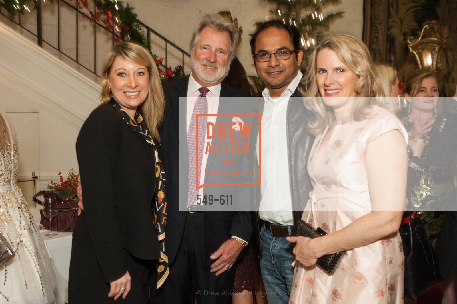 Jennifer Mancuso, Steve Burrill, Mainul Mandal, Marie Hurabiell, San Francisco Ballet Auxiliary's Gala Launch party hosted by La Perla., VILLA TAVERA. 27 HOTALING PLACE, December 1st, 2015,Drew Altizer, Drew Altizer Photography, full-service agency, private events, San Francisco photographer, photographer california