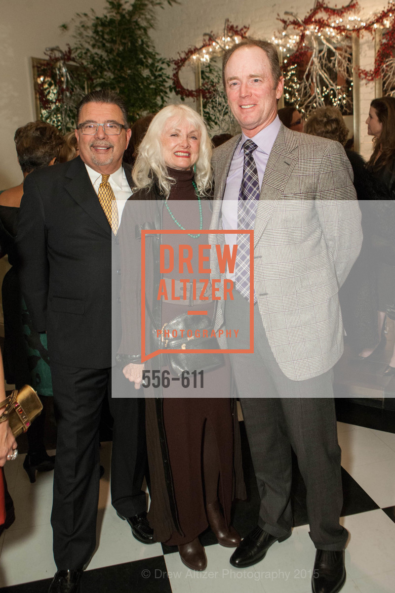 Frank Espina, Andi Valo Espina, Terry Hazlewood, San Francisco Ballet Auxiliary's Gala Launch party hosted by La Perla., VILLA TAVERA. 27 HOTALING PLACE, December 1st, 2015,Drew Altizer, Drew Altizer Photography, full-service agency, private events, San Francisco photographer, photographer california