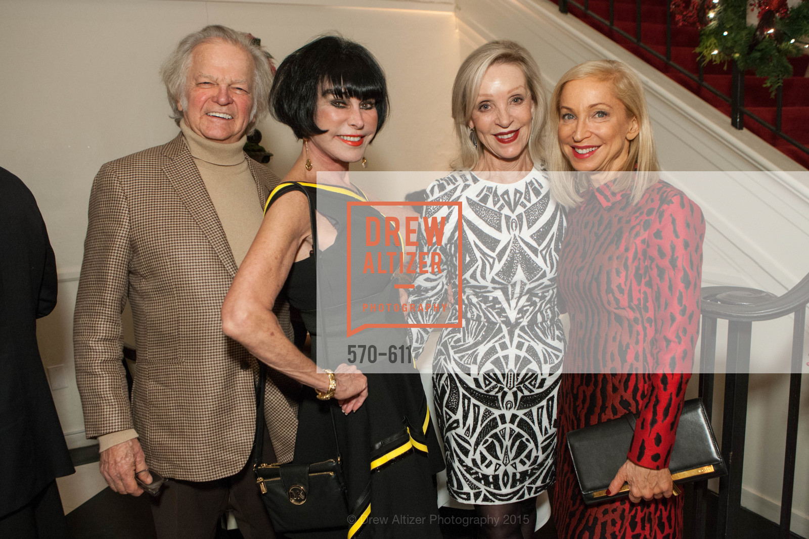 Michael Cabak, Marilyn Cabak, Barbara Brown, Shelley Gordon, San Francisco Ballet Auxiliary's Gala Launch party hosted by La Perla., VILLA TAVERA. 27 HOTALING PLACE, December 1st, 2015,Drew Altizer, Drew Altizer Photography, full-service agency, private events, San Francisco photographer, photographer california