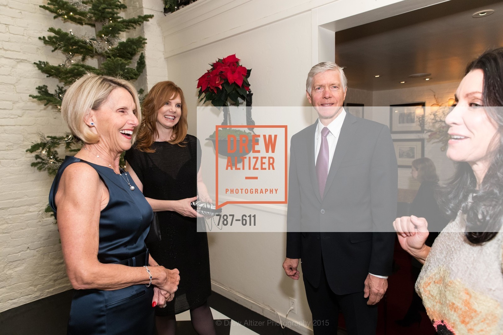Freddi Wilkinson, Brenda Leff, Joe Losch, Deborah Taylor, San Francisco Ballet Auxiliary's Gala Launch party hosted by La Perla., VILLA TAVERA. 27 HOTALING PLACE, December 1st, 2015,Drew Altizer, Drew Altizer Photography, full-service agency, private events, San Francisco photographer, photographer california