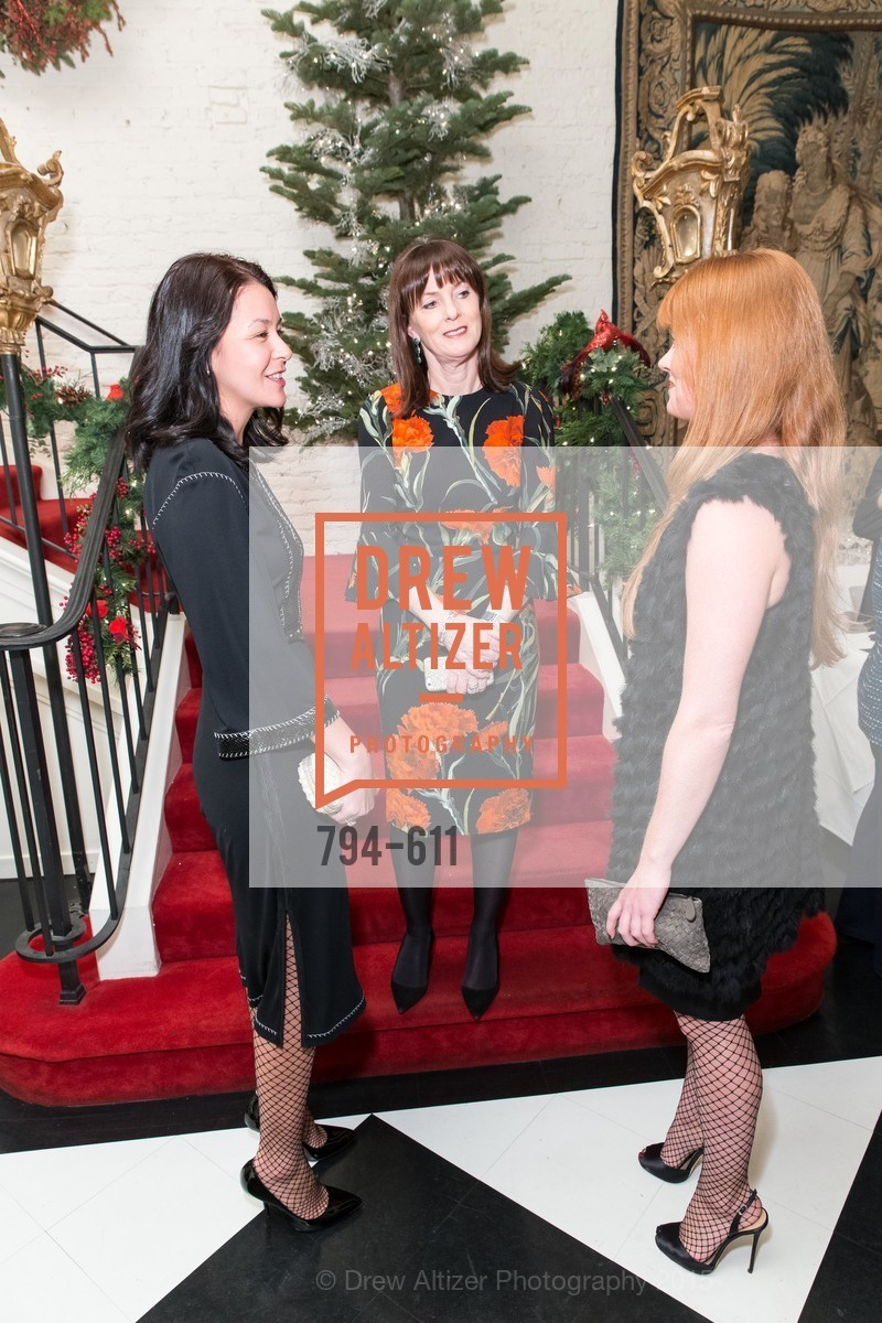 Phoebe Mireles, Allison Speer, Lynn Yeager, San Francisco Ballet Auxiliary's Gala Launch party hosted by La Perla., VILLA TAVERA. 27 HOTALING PLACE, December 1st, 2015,Drew Altizer, Drew Altizer Photography, full-service agency, private events, San Francisco photographer, photographer california