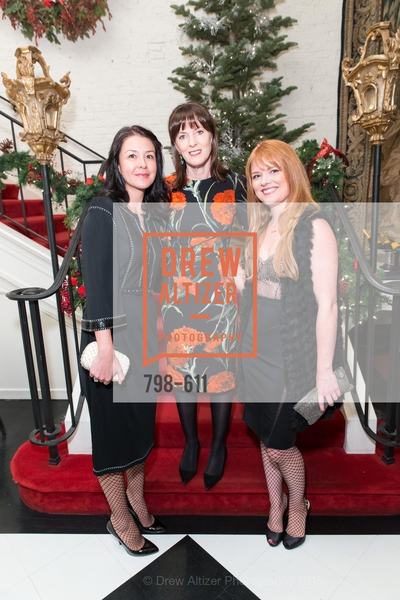 Phoebe Mireles, Allison Speer, Lynn Yeager, San Francisco Ballet Auxiliary's Gala Launch party hosted by La Perla., VILLA TAVERA. 27 HOTALING PLACE, December 1st, 2015,Drew Altizer, Drew Altizer Photography, full-service event agency, private events, San Francisco photographer, photographer California