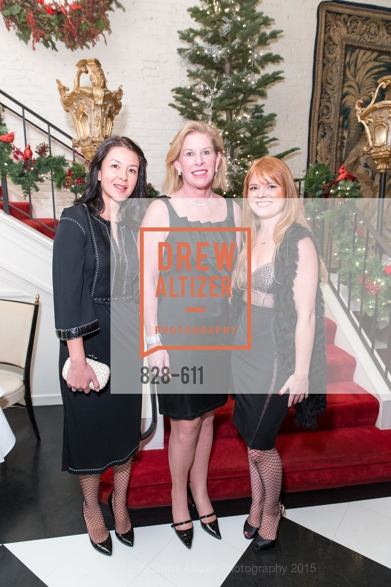 Phoebe Mireles, Jennifer Brandenburg, Lynn Yeager, San Francisco Ballet Auxiliary's Gala Launch party hosted by La Perla., VILLA TAVERA. 27 HOTALING PLACE, December 1st, 2015,Drew Altizer, Drew Altizer Photography, full-service event agency, private events, San Francisco photographer, photographer California