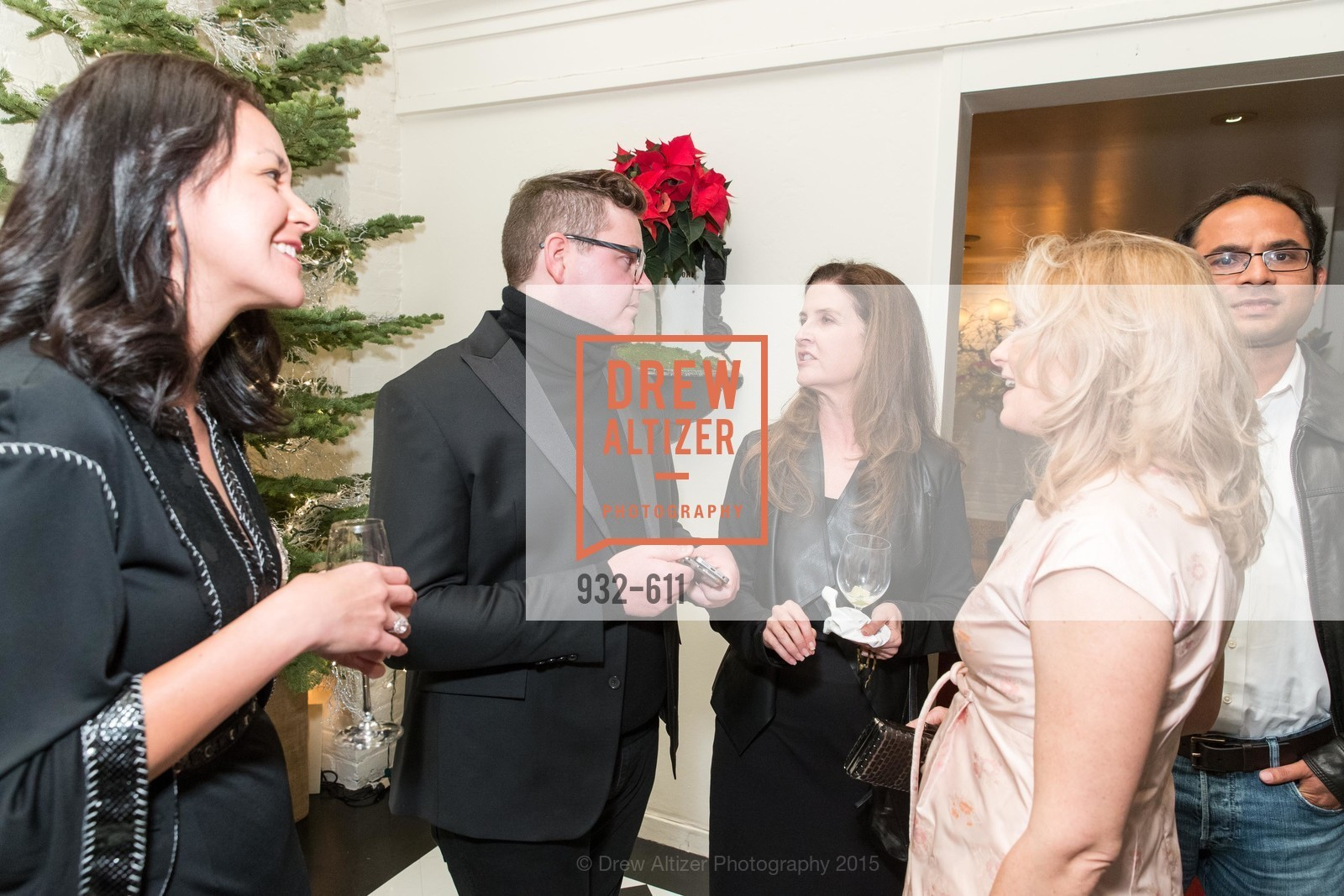 Phoebe Mireles, Robert Brotherton, Jennifer Mehaw, Marie Hurabiell, San Francisco Ballet Auxiliary's Gala Launch party hosted by La Perla., VILLA TAVERA. 27 HOTALING PLACE, December 1st, 2015,Drew Altizer, Drew Altizer Photography, full-service agency, private events, San Francisco photographer, photographer california
