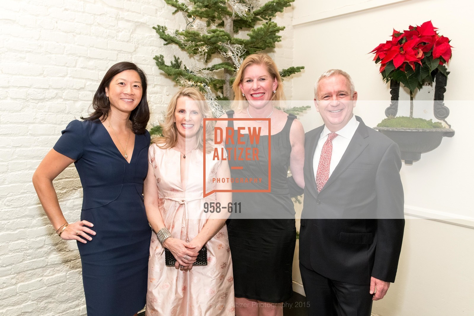 Christine Leong Connors, Marie Hurabiell, Jennifer Brandenburg, Glenn McCoy, San Francisco Ballet Auxiliary's Gala Launch party hosted by La Perla., VILLA TAVERA. 27 HOTALING PLACE, December 1st, 2015,Drew Altizer, Drew Altizer Photography, full-service agency, private events, San Francisco photographer, photographer california