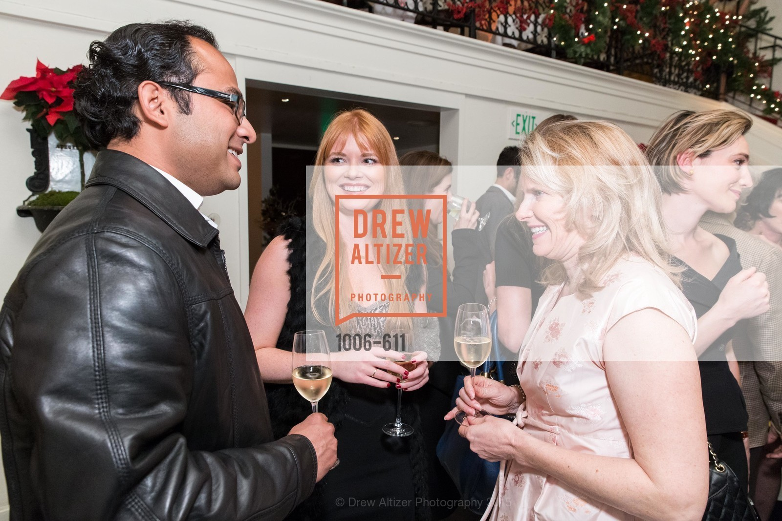 Mainul Mandal, Lynn Yeager, Marie Hurabiell, San Francisco Ballet Auxiliary's Gala Launch party hosted by La Perla., VILLA TAVERA. 27 HOTALING PLACE, December 1st, 2015,Drew Altizer, Drew Altizer Photography, full-service agency, private events, San Francisco photographer, photographer california