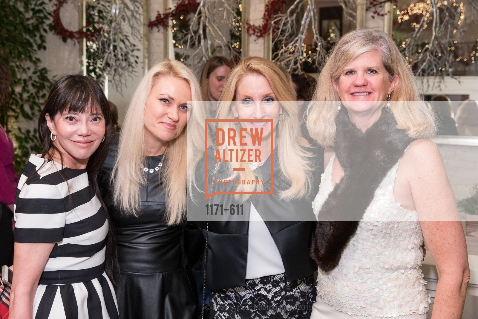 France Szeto, Maria Ralph, Jeannie Harris, Meg Ruxton, San Francisco Ballet Auxiliary's Gala Launch party hosted by La Perla., VILLA TAVERA. 27 HOTALING PLACE, December 1st, 2015,Drew Altizer, Drew Altizer Photography, full-service event agency, private events, San Francisco photographer, photographer California