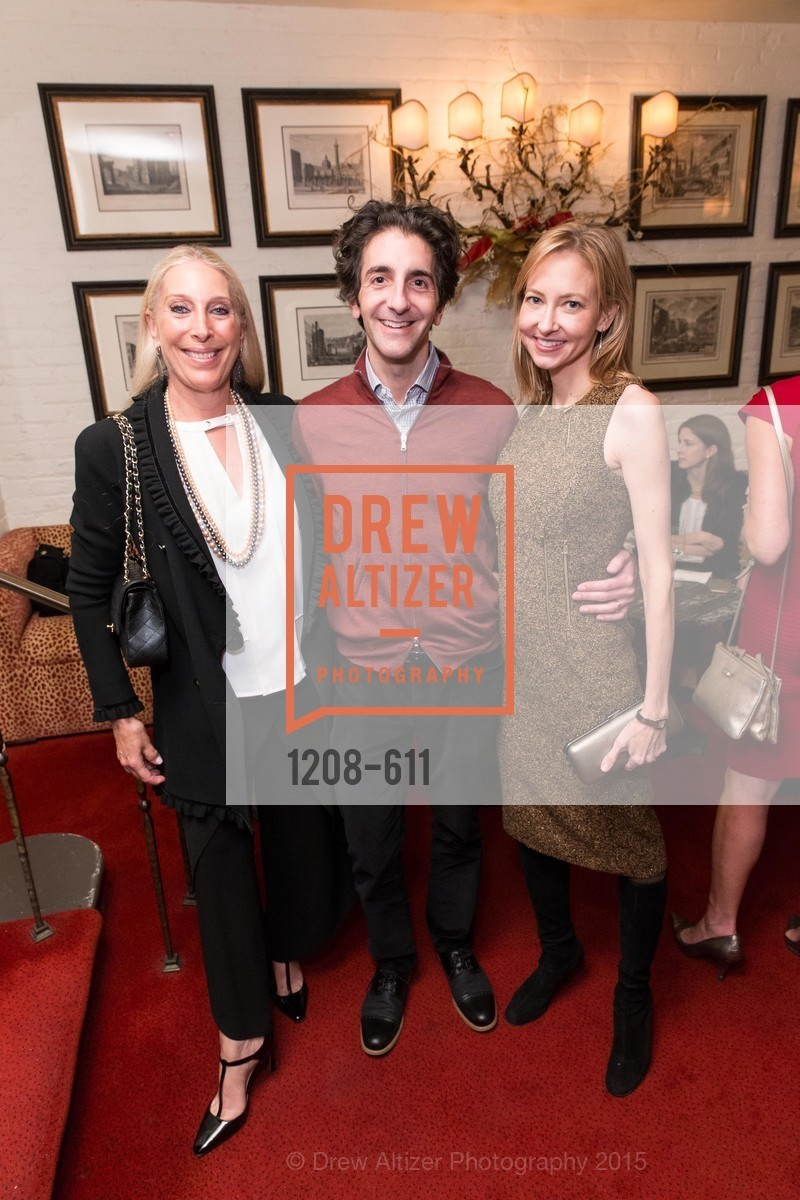 Betsy Linder, Mark Berman, Josie Howard, San Francisco Ballet Auxiliary's Gala Launch party hosted by La Perla., VILLA TAVERA. 27 HOTALING PLACE, December 1st, 2015,Drew Altizer, Drew Altizer Photography, full-service agency, private events, San Francisco photographer, photographer california
