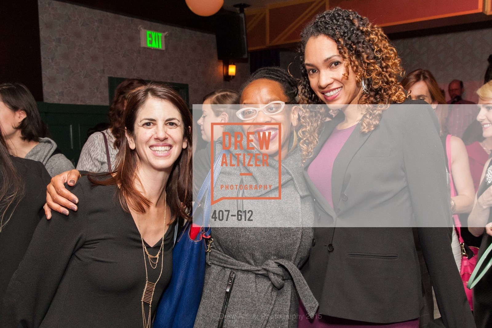Hillary Ronen, Lateefah Simon, Dena Clayton, San Francisco Magazine Power Issue, Cafe du Nord. 2174 Market St, December 1st, 2015,Drew Altizer, Drew Altizer Photography, full-service agency, private events, San Francisco photographer, photographer california