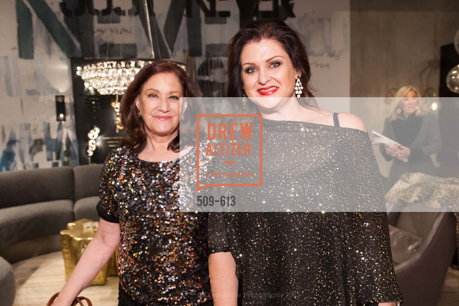 Phyllis Mason, Carrie Hentle, Go Gold ASID Holiday Party, Coup D'etat Showroom. 111 Rhode Island St. #1, December 1st, 2015,Drew Altizer, Drew Altizer Photography, full-service agency, private events, San Francisco photographer, photographer california