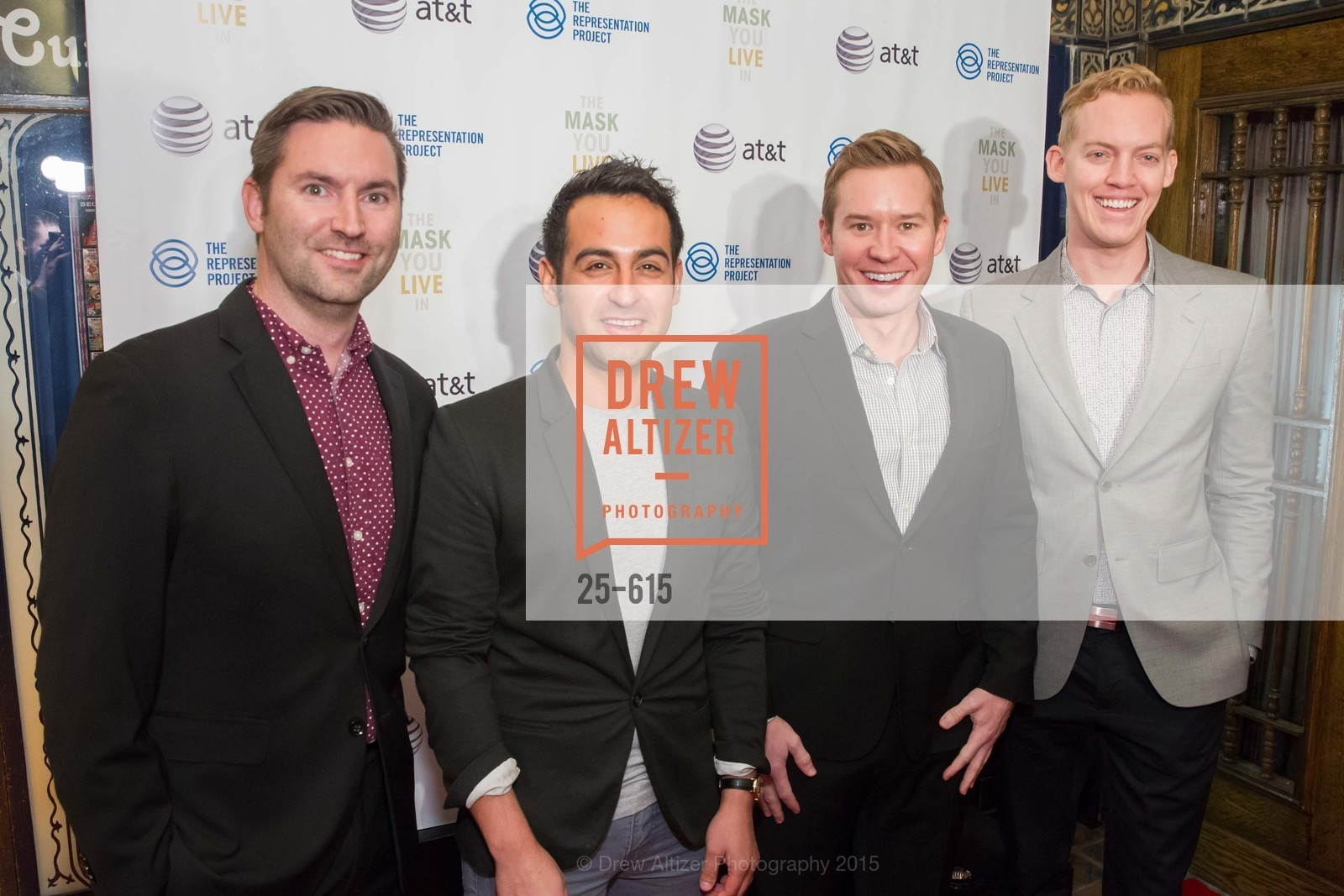 James Chambers, Jacob Frost, Brent Tippen, Eric Barth, Jennifer Siebel Newsom's Castro Screening The Mask You Live In, Castro Theatre. 429 Castro Street, December 2nd, 2015,Drew Altizer, Drew Altizer Photography, full-service agency, private events, San Francisco photographer, photographer california