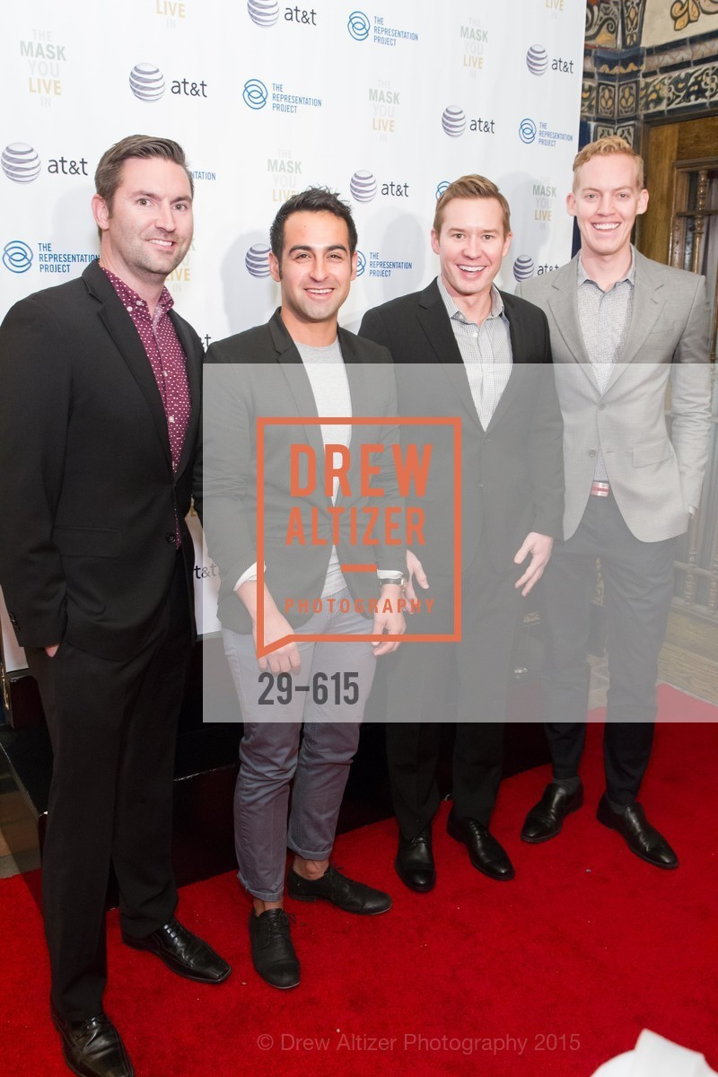 James Cambers, Jacob Cross, Brent Tippen, Eric Barth, Jennifer Siebel Newsom's Castro Screening The Mask You Live In, Castro Theatre. 429 Castro Street, December 2nd, 2015,Drew Altizer, Drew Altizer Photography, full-service agency, private events, San Francisco photographer, photographer california