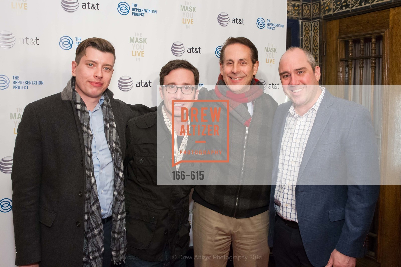 Brad Bravstein, Kyle McMullen, Howard Edelman, Gil Padia, Jennifer Siebel Newsom's Castro Screening The Mask You Live In, Castro Theatre. 429 Castro Street, December 2nd, 2015,Drew Altizer, Drew Altizer Photography, full-service agency, private events, San Francisco photographer, photographer california