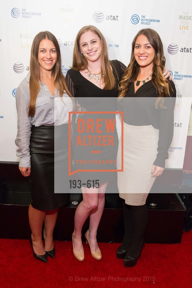 Amanda Milay, Morgan Strobel, Natalie Milay, Jennifer Siebel Newsom's Castro Screening The Mask You Live In, Castro Theatre. 429 Castro Street, December 2nd, 2015,Drew Altizer, Drew Altizer Photography, full-service agency, private events, San Francisco photographer, photographer california